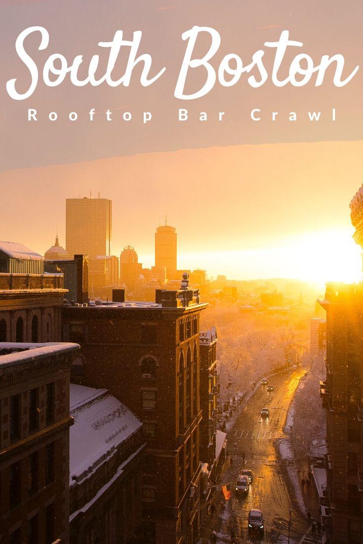 South Boston Rooftop Bar Crawl Pinterest pin
