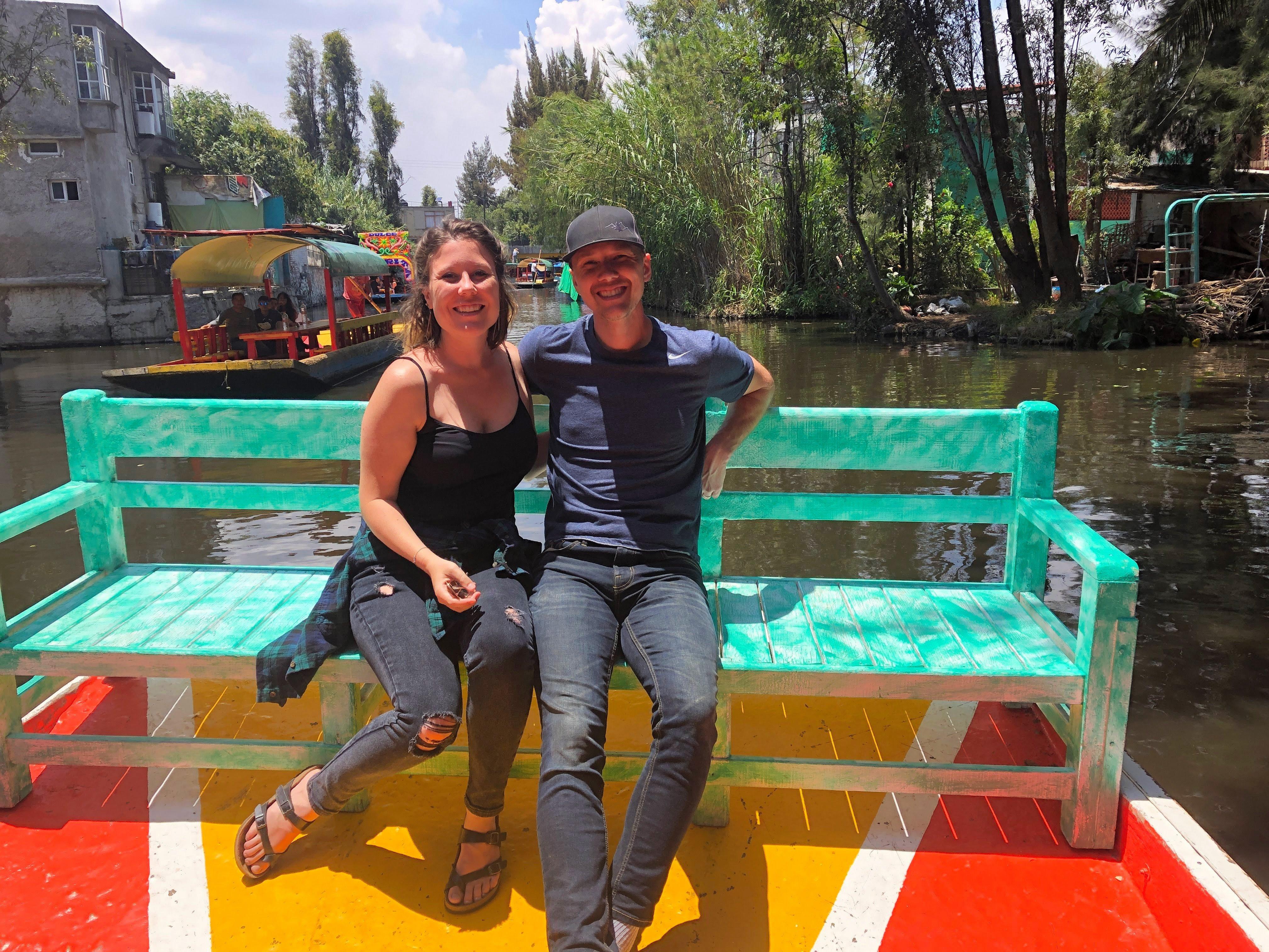 Dan and Di in Xochimilco
