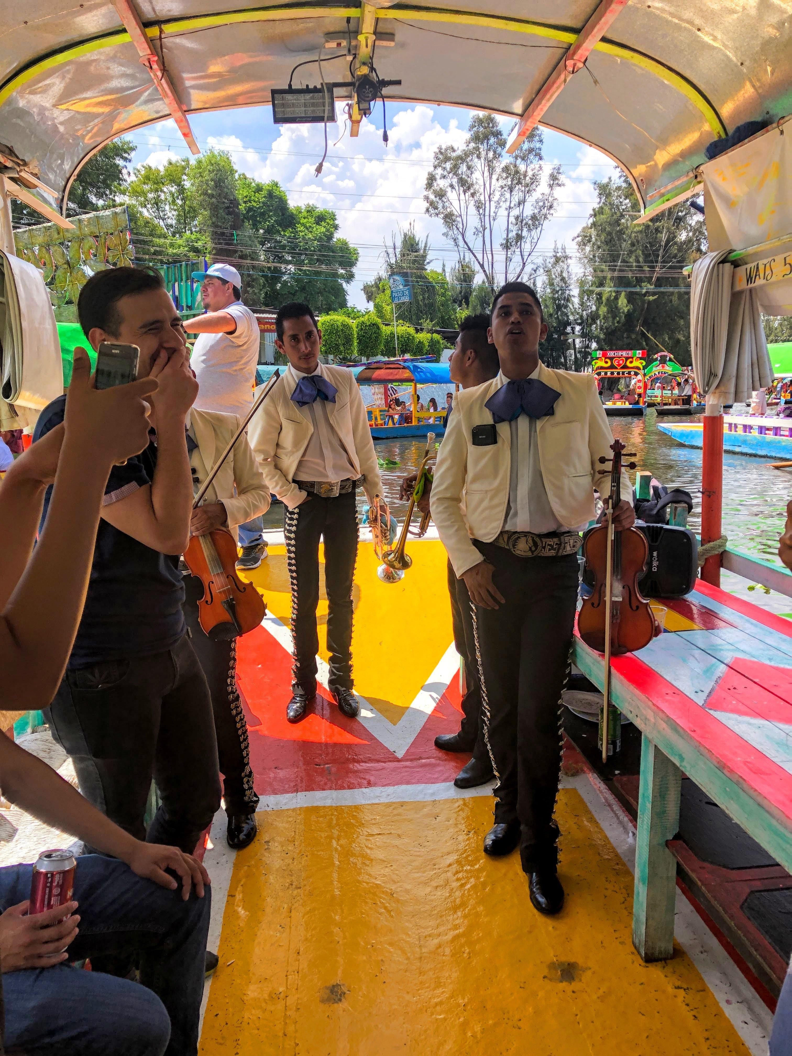 mariachi band in Xochimilco
