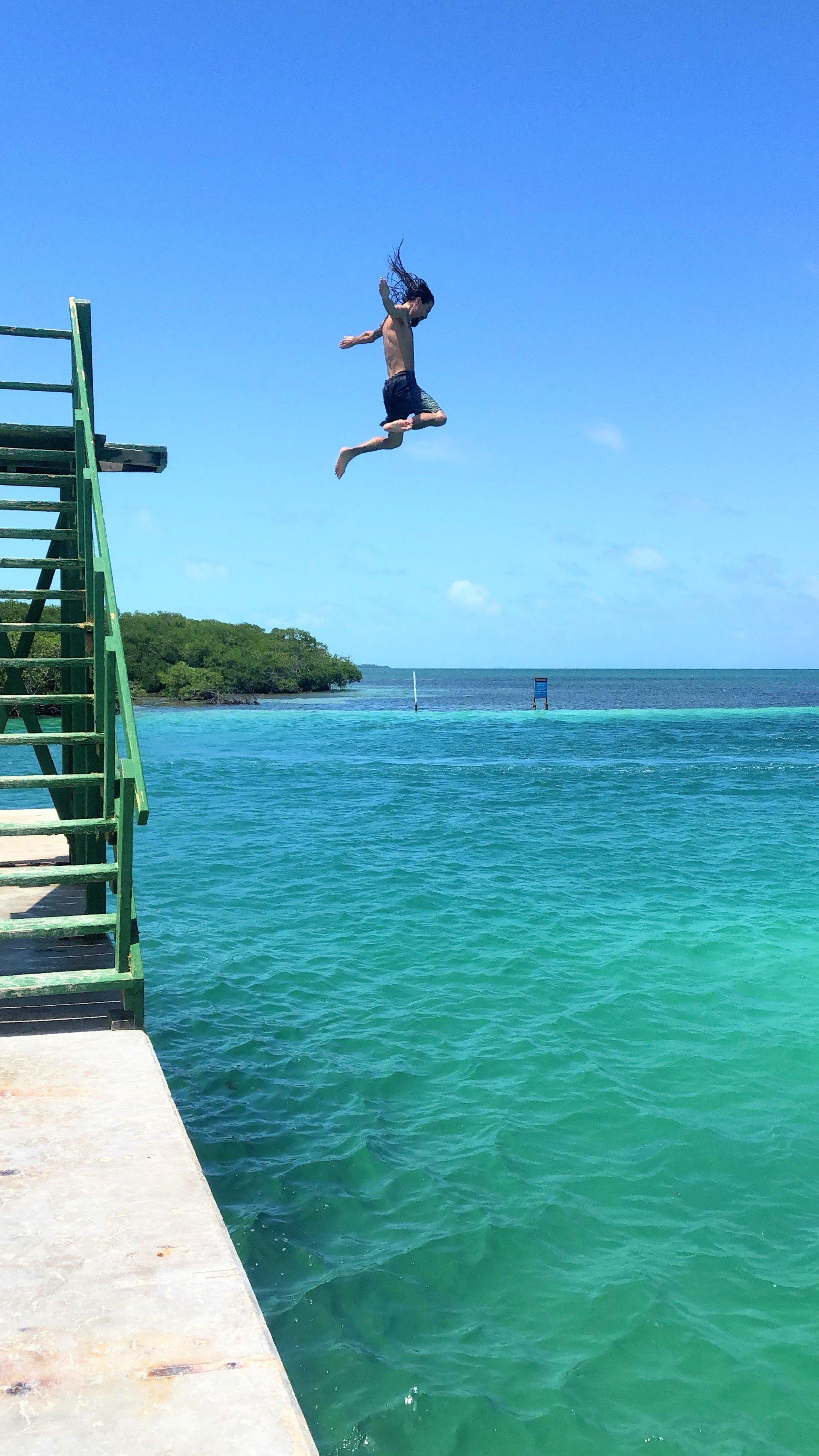 jumping platform at the Lazy Lizard