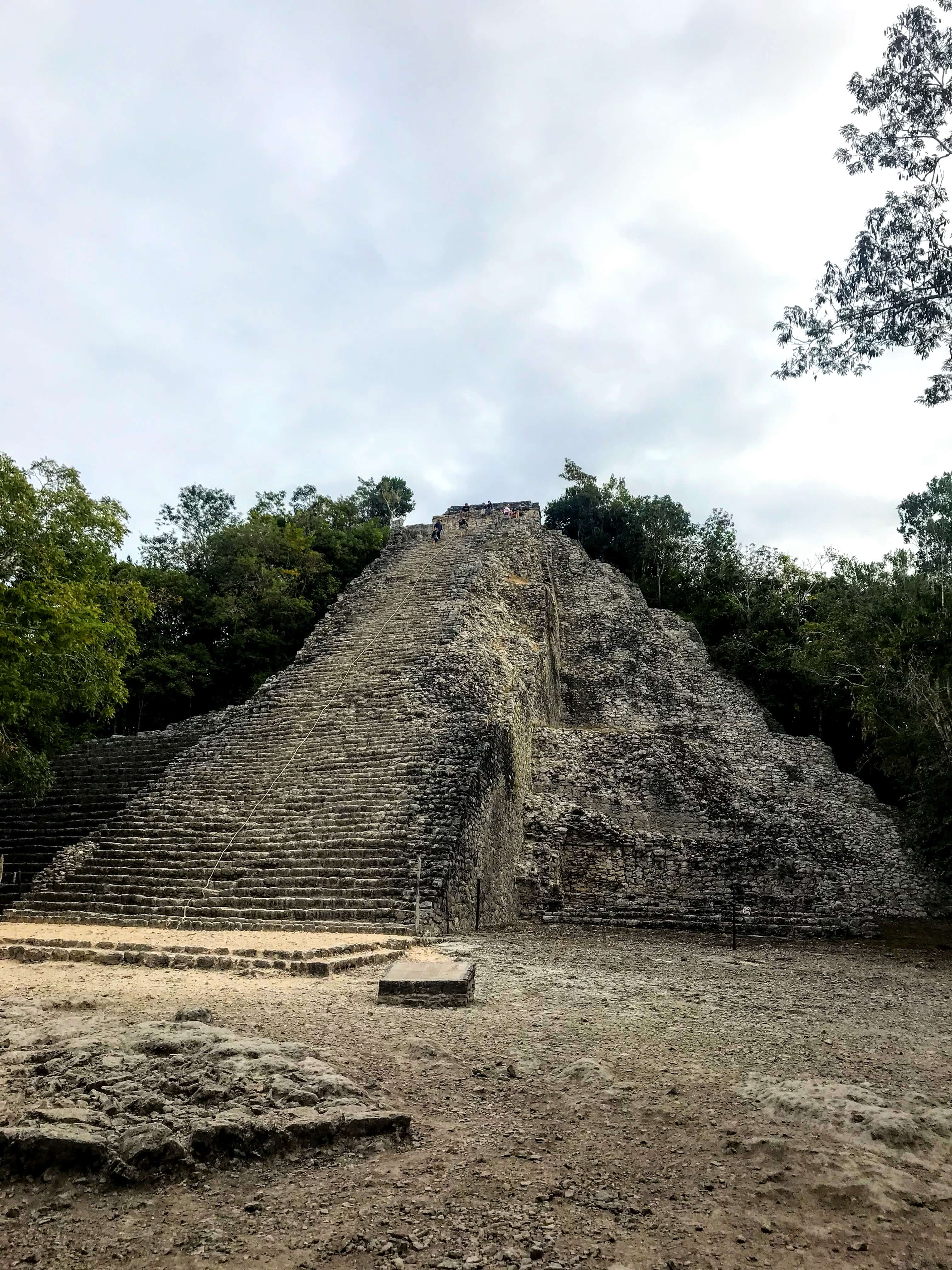 Nohoch Mul Mayan pyramid in the Coba ruins
