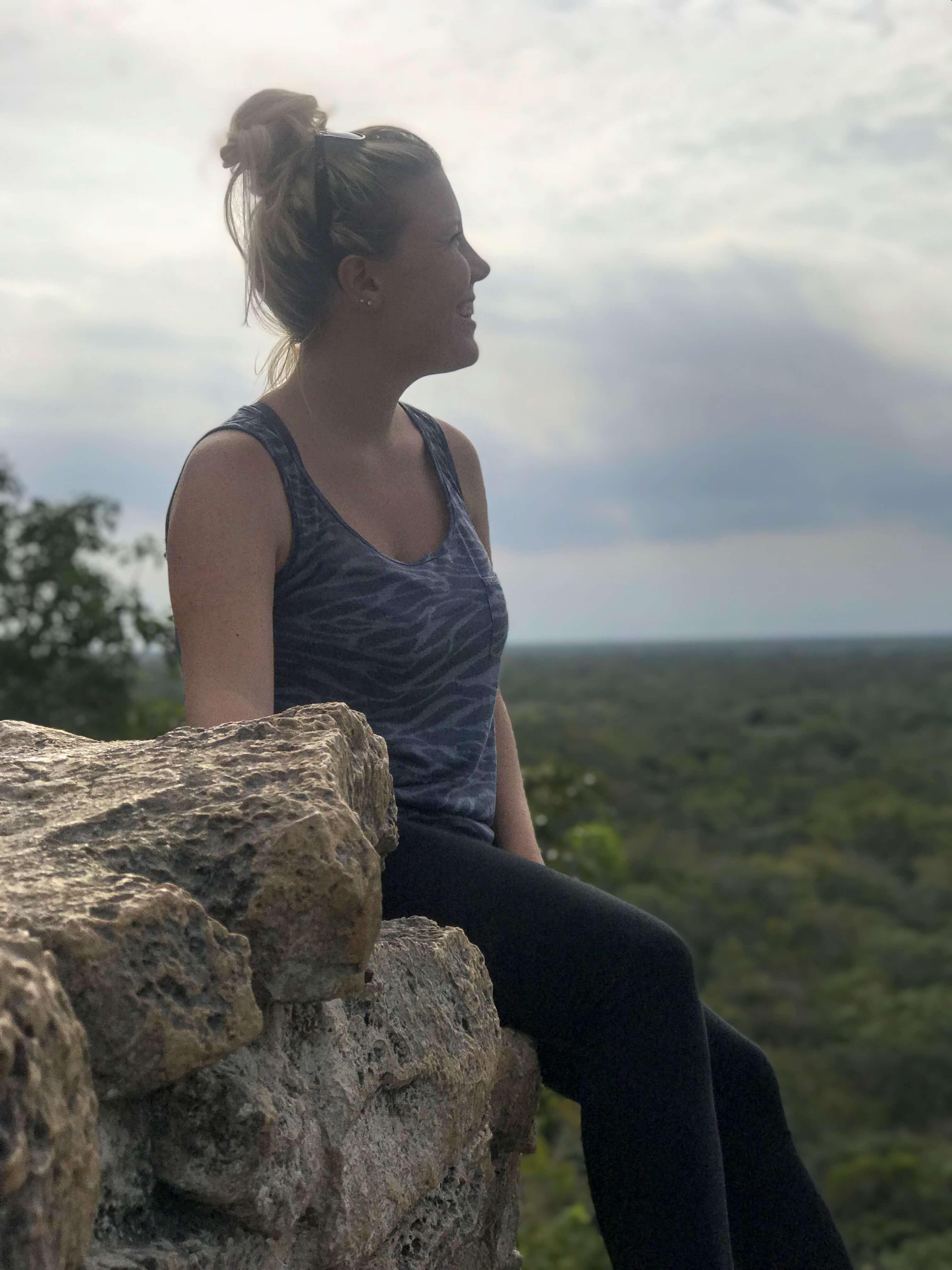 Di on the Coba Ruins