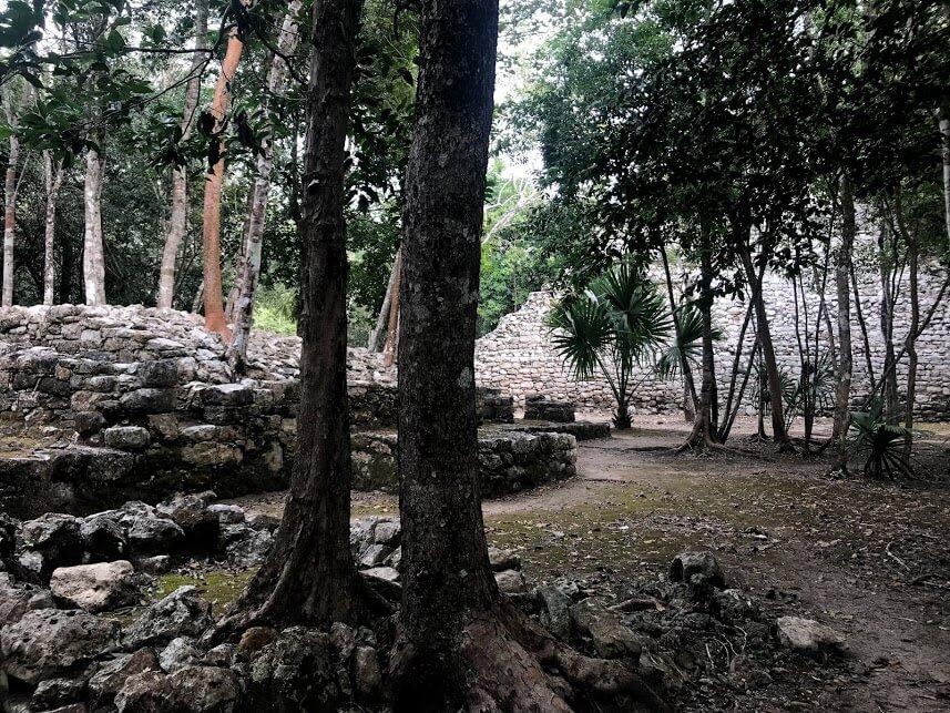 exploring the Coba ruins