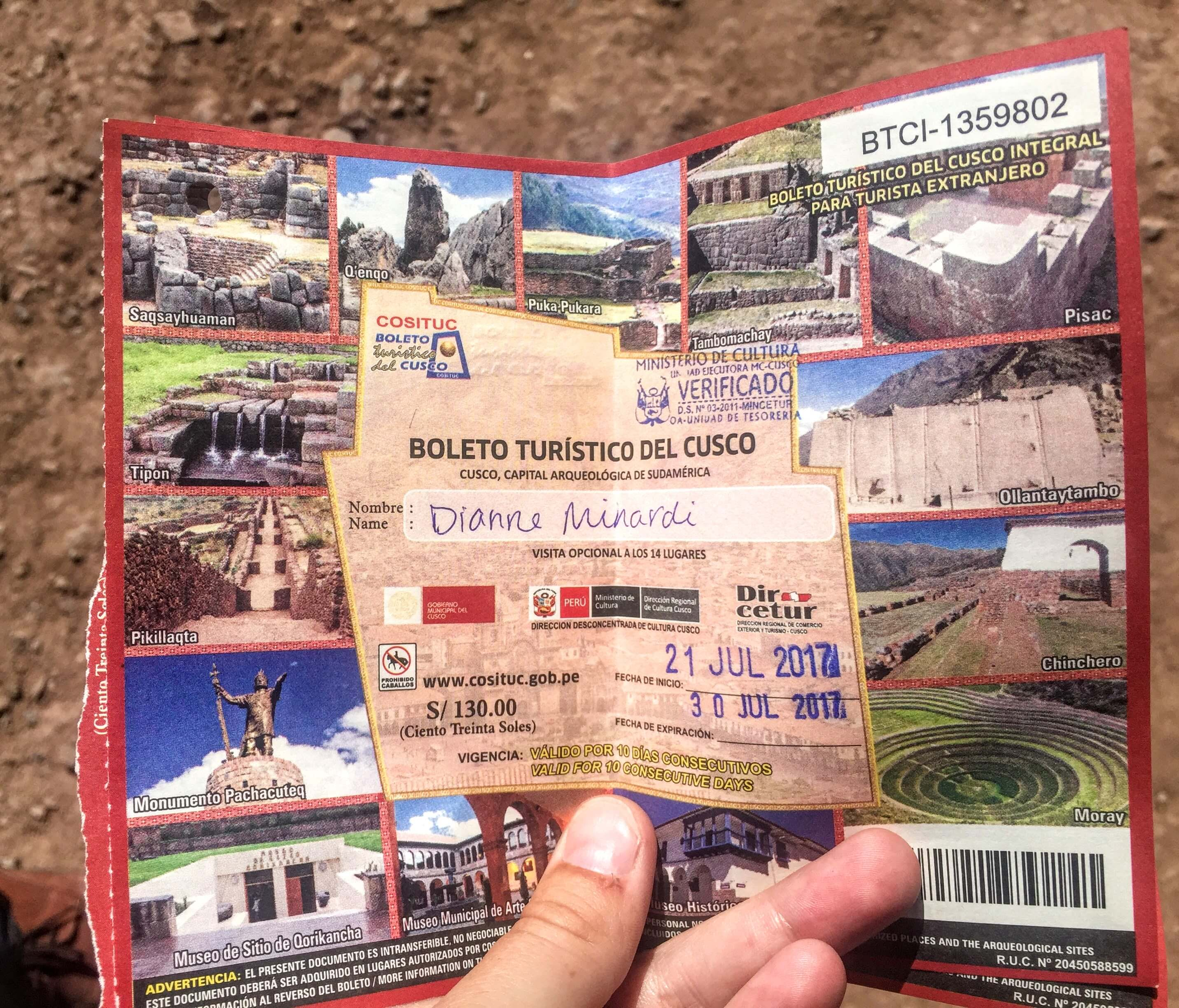 Sacsayhuaman entrance ticket
