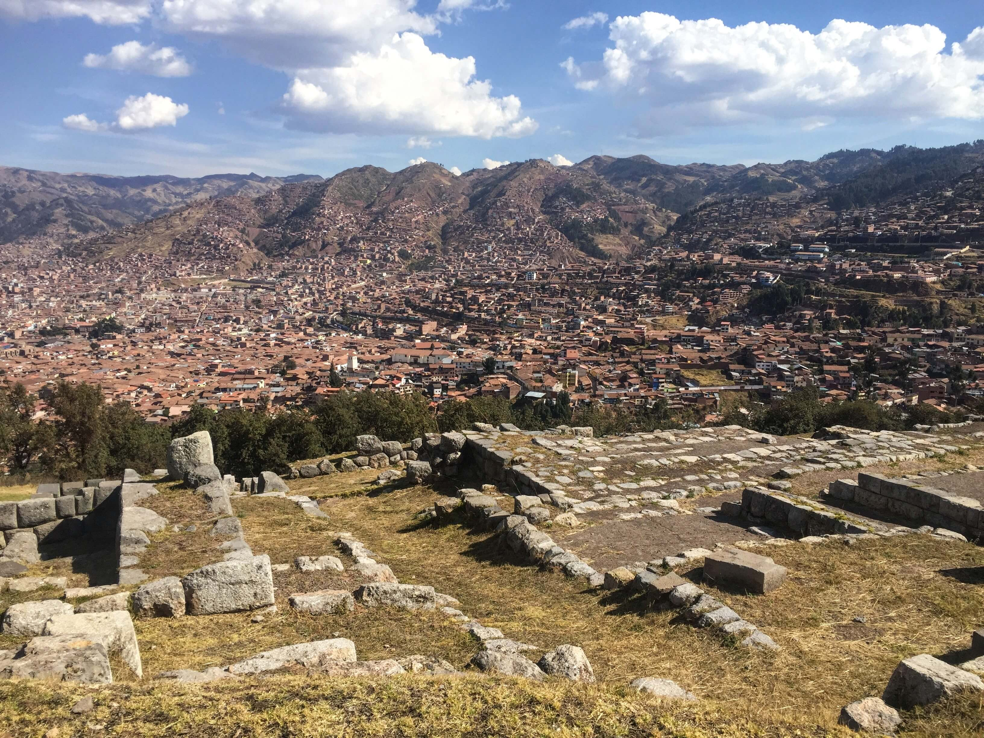 Sacsayhuaman ruins and view of Cusco
