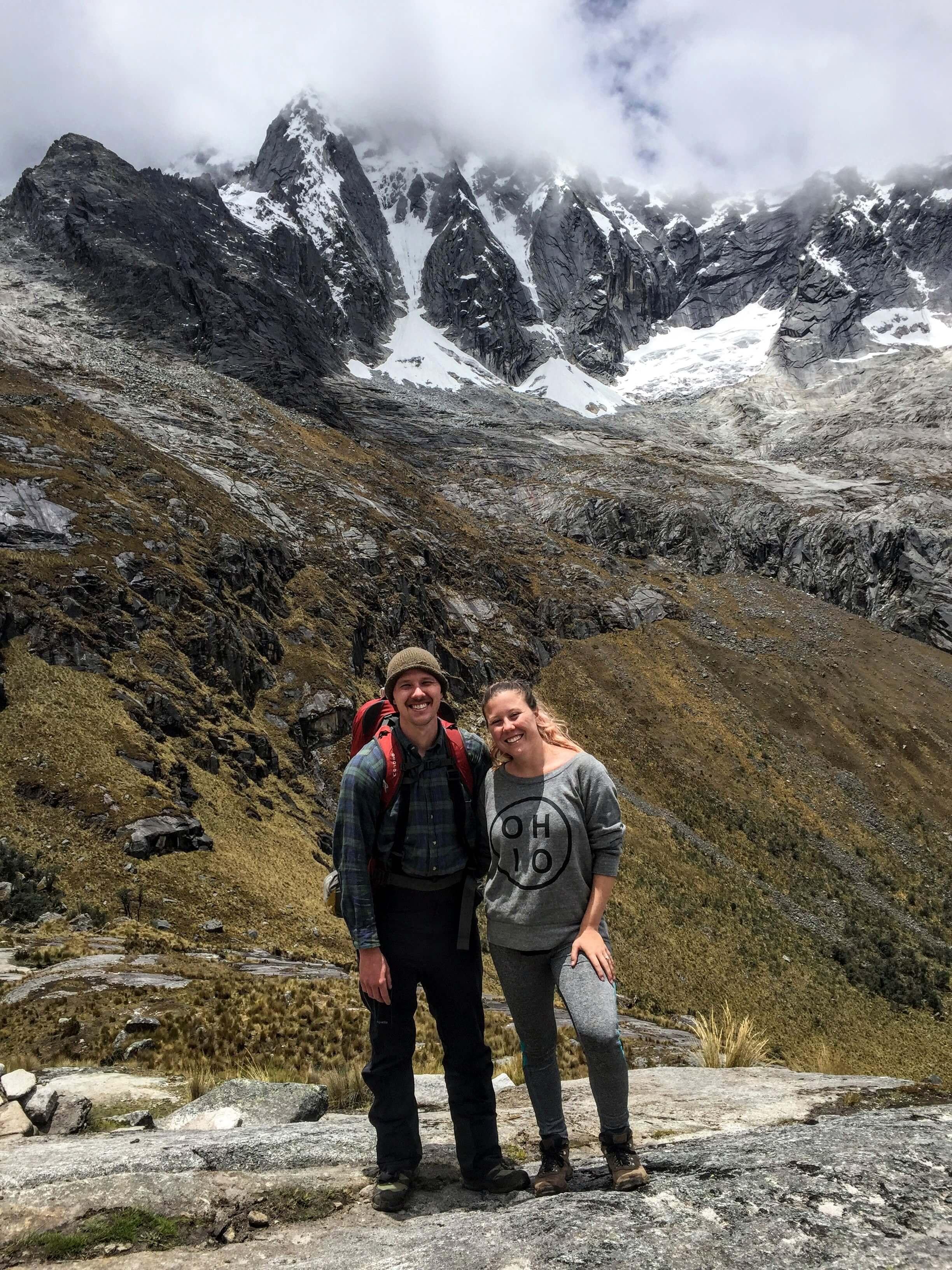 climbing the Santa Cruz pass