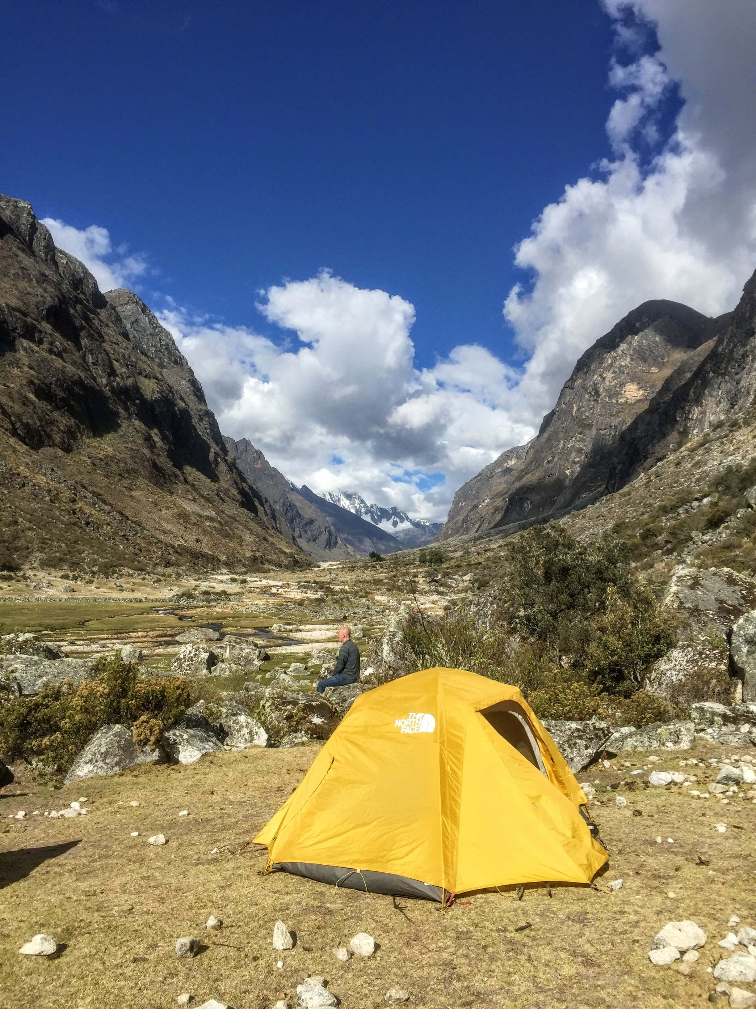 third campsite on the Santa cruz trek in Peru