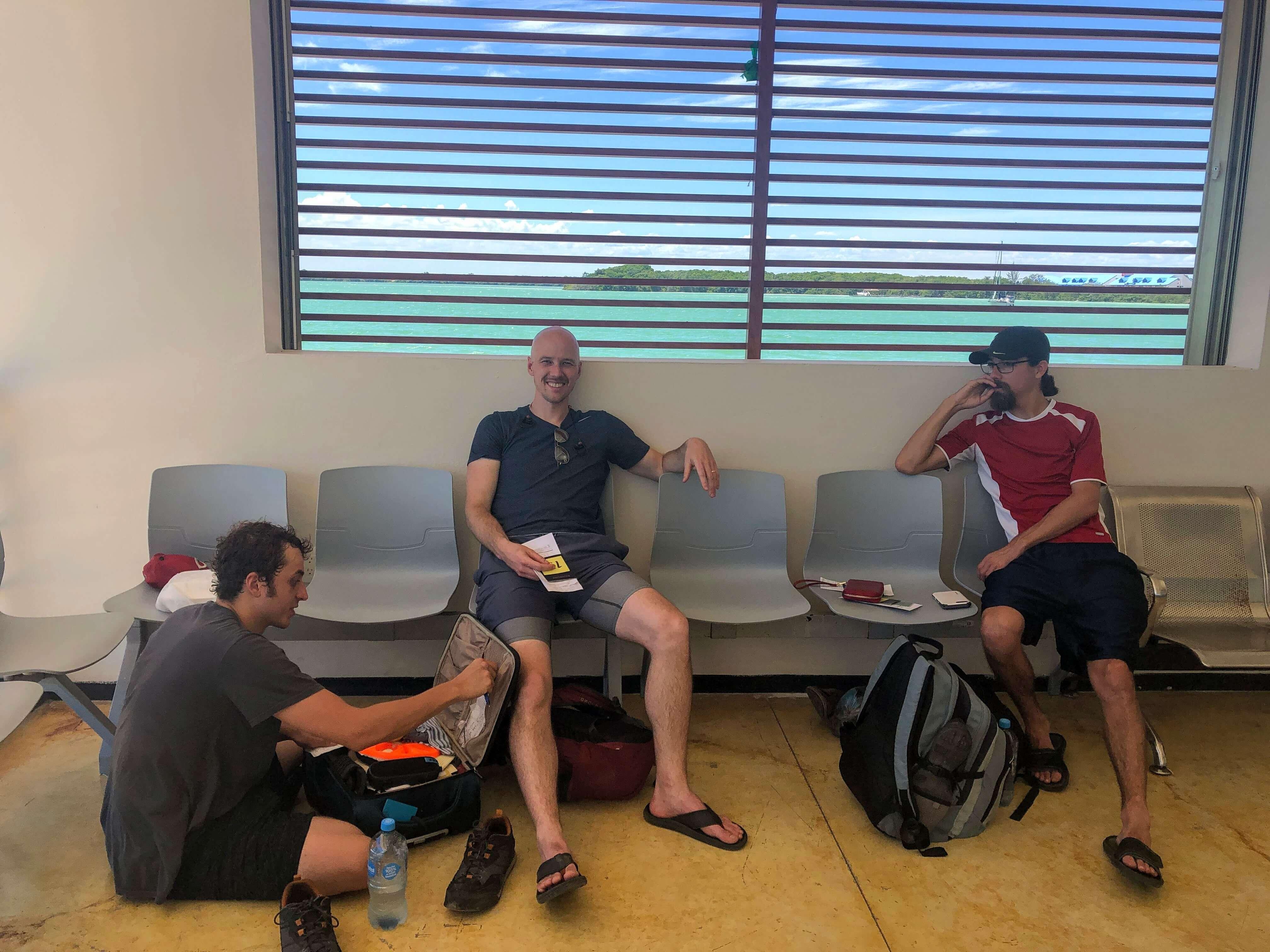 waiting room Chetumal Ferry Port