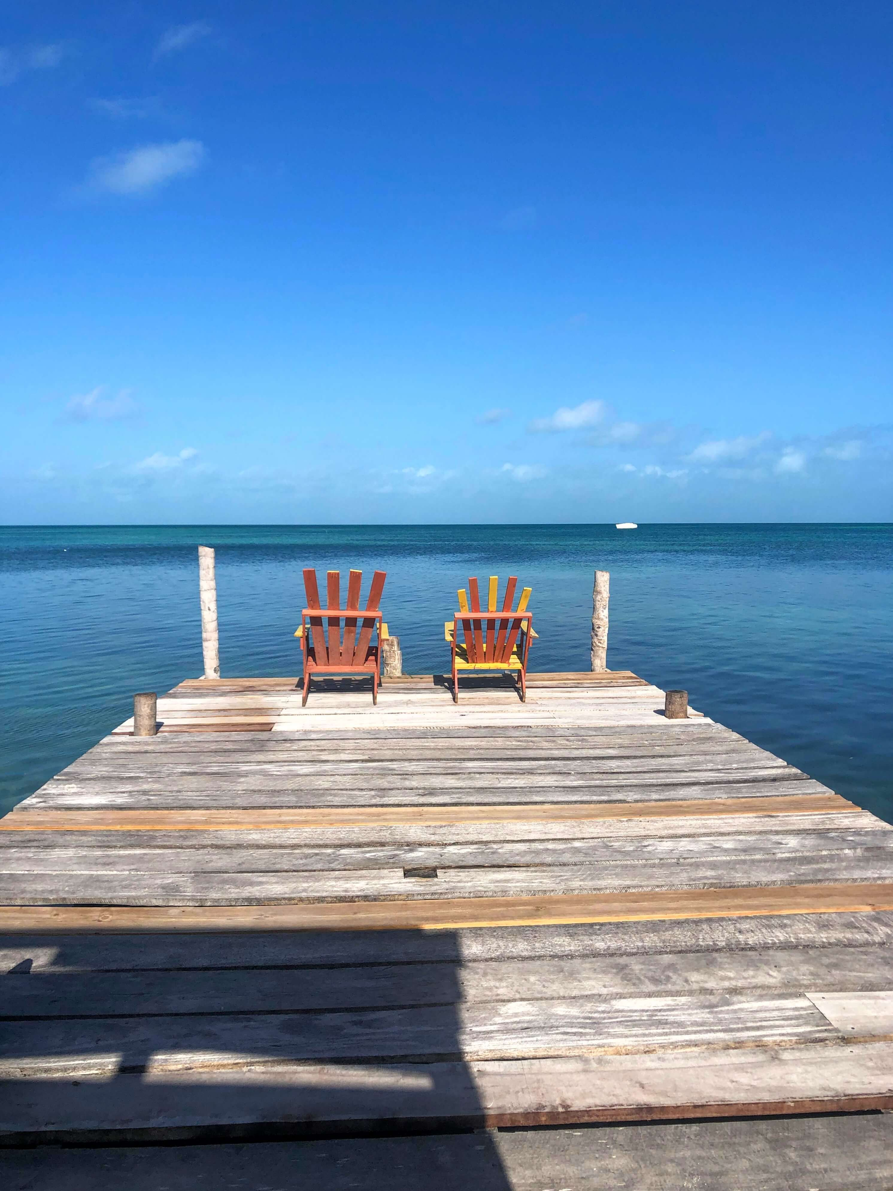 dock and ocean on Caye Caulker