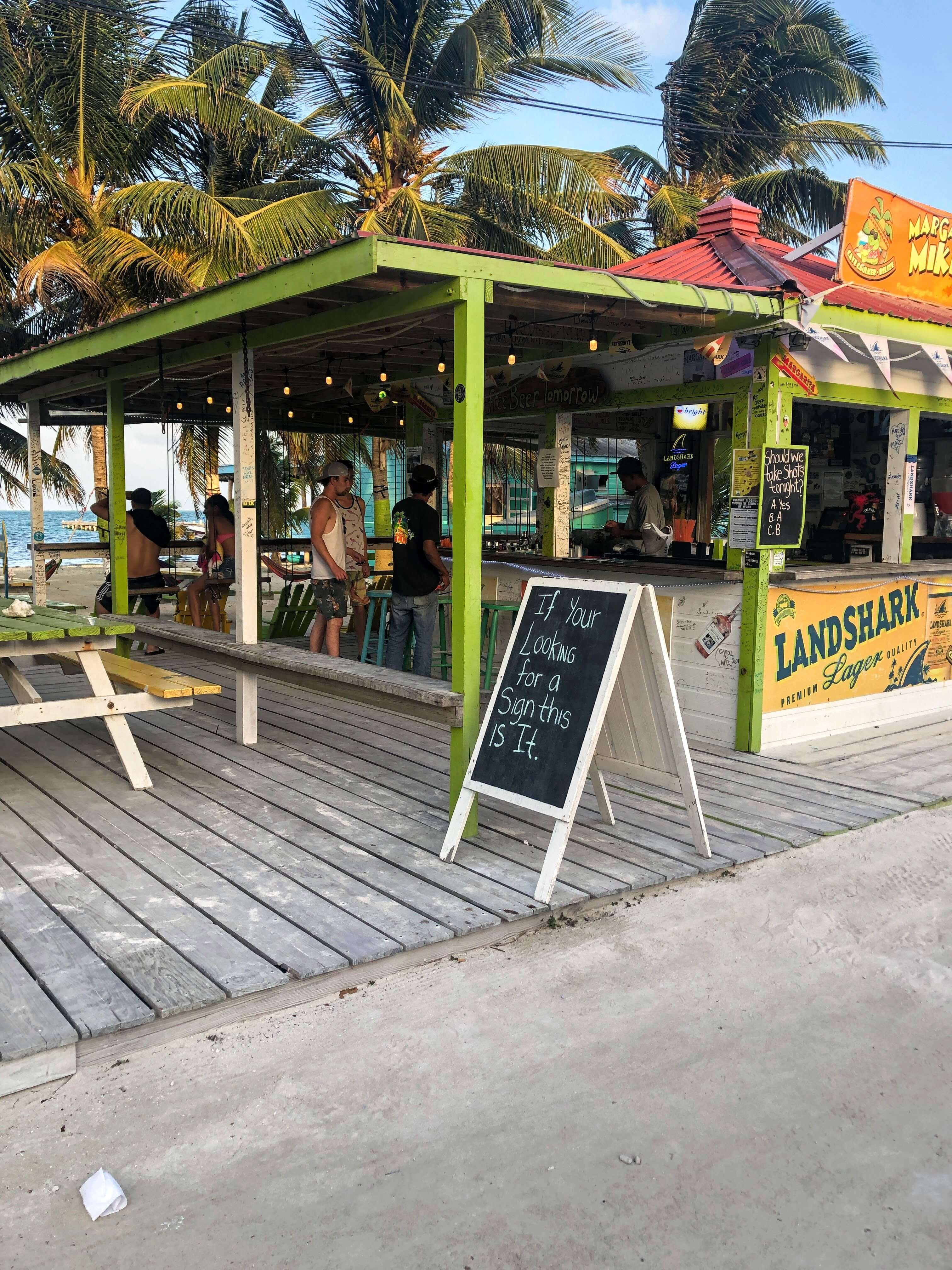 bar on Caye Caulker