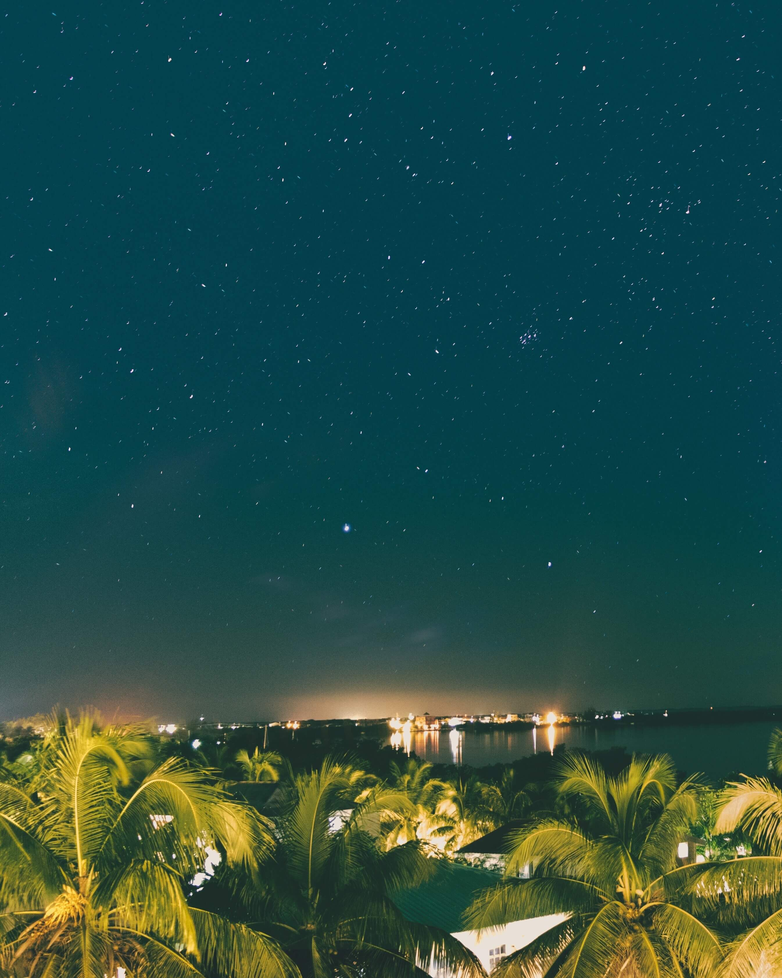 night sky on San Pedro Island