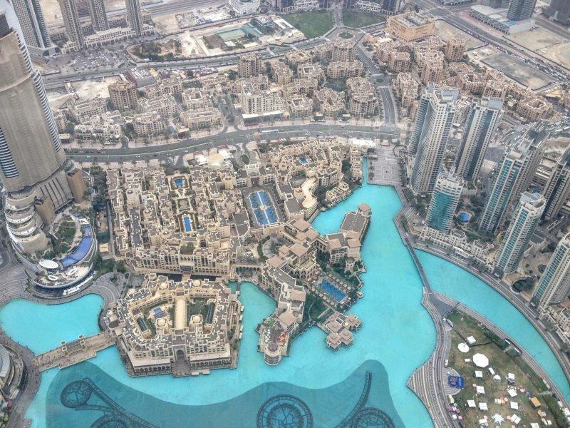 View of Dubai from the Burj Khalifa