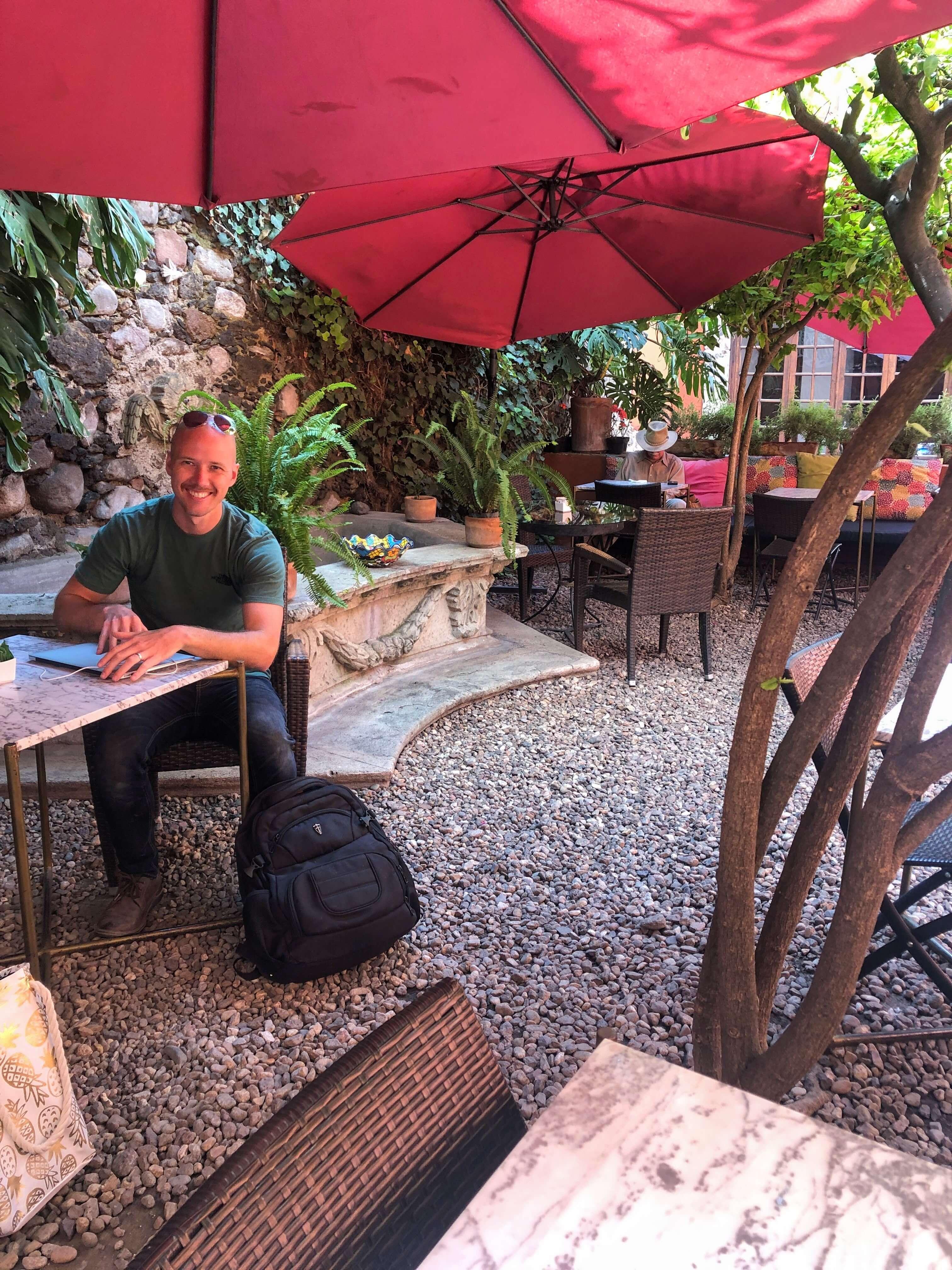 La Sacristia cafe in San Miguel de Allende
