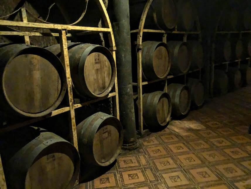 wine barrels at Rancho Toyan