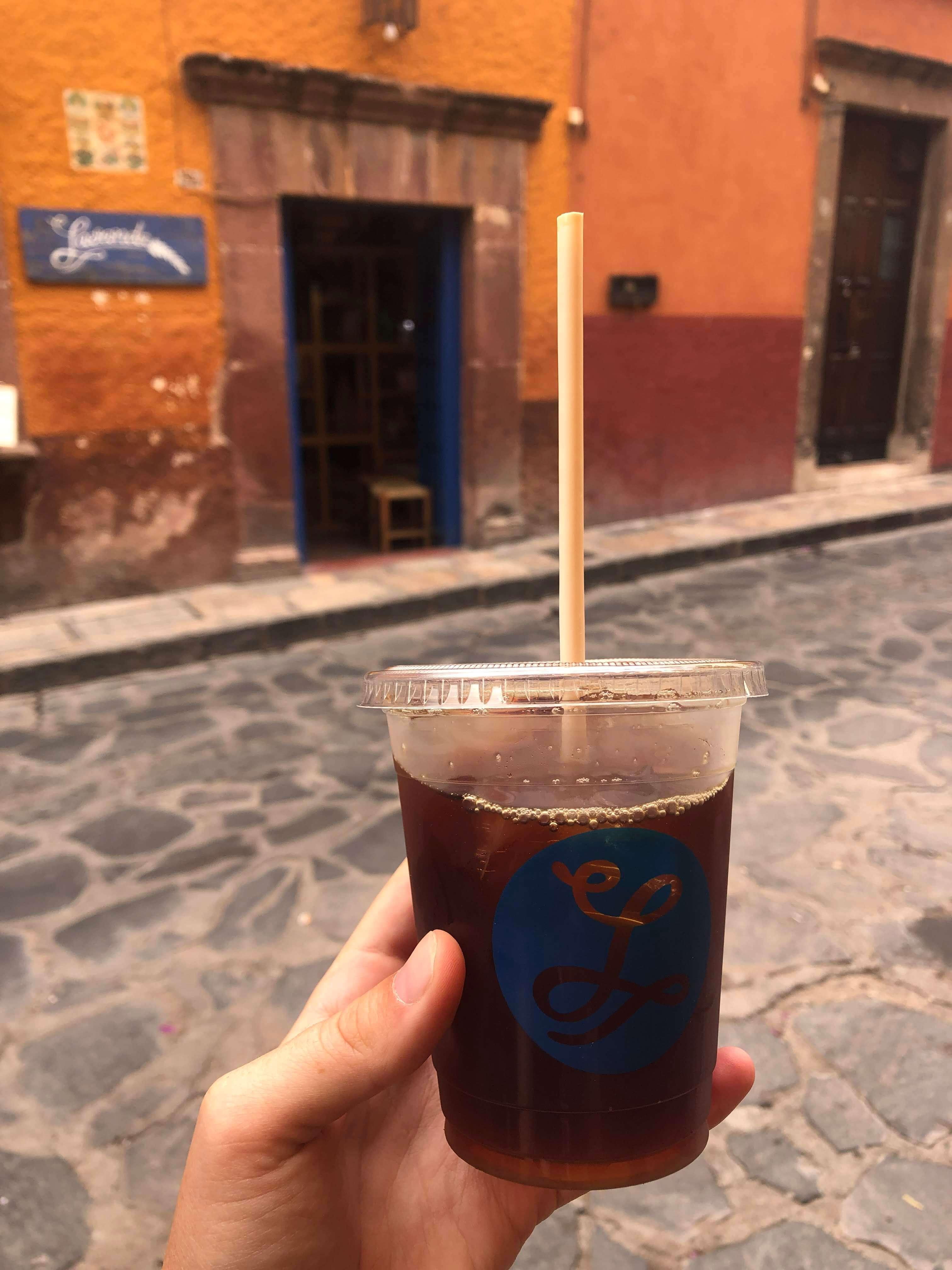 lavender coffee in San Miguel de Allende