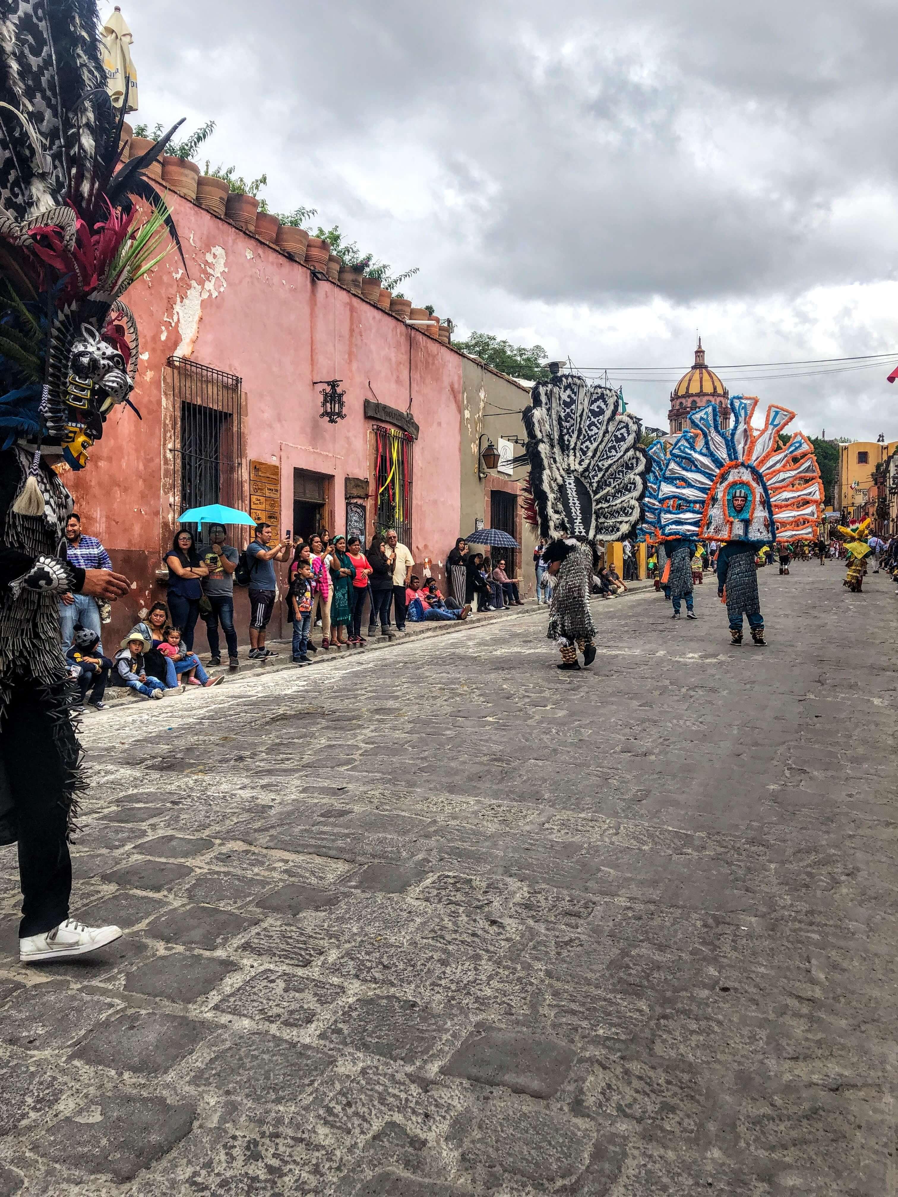 parade in San Miguel de Allende