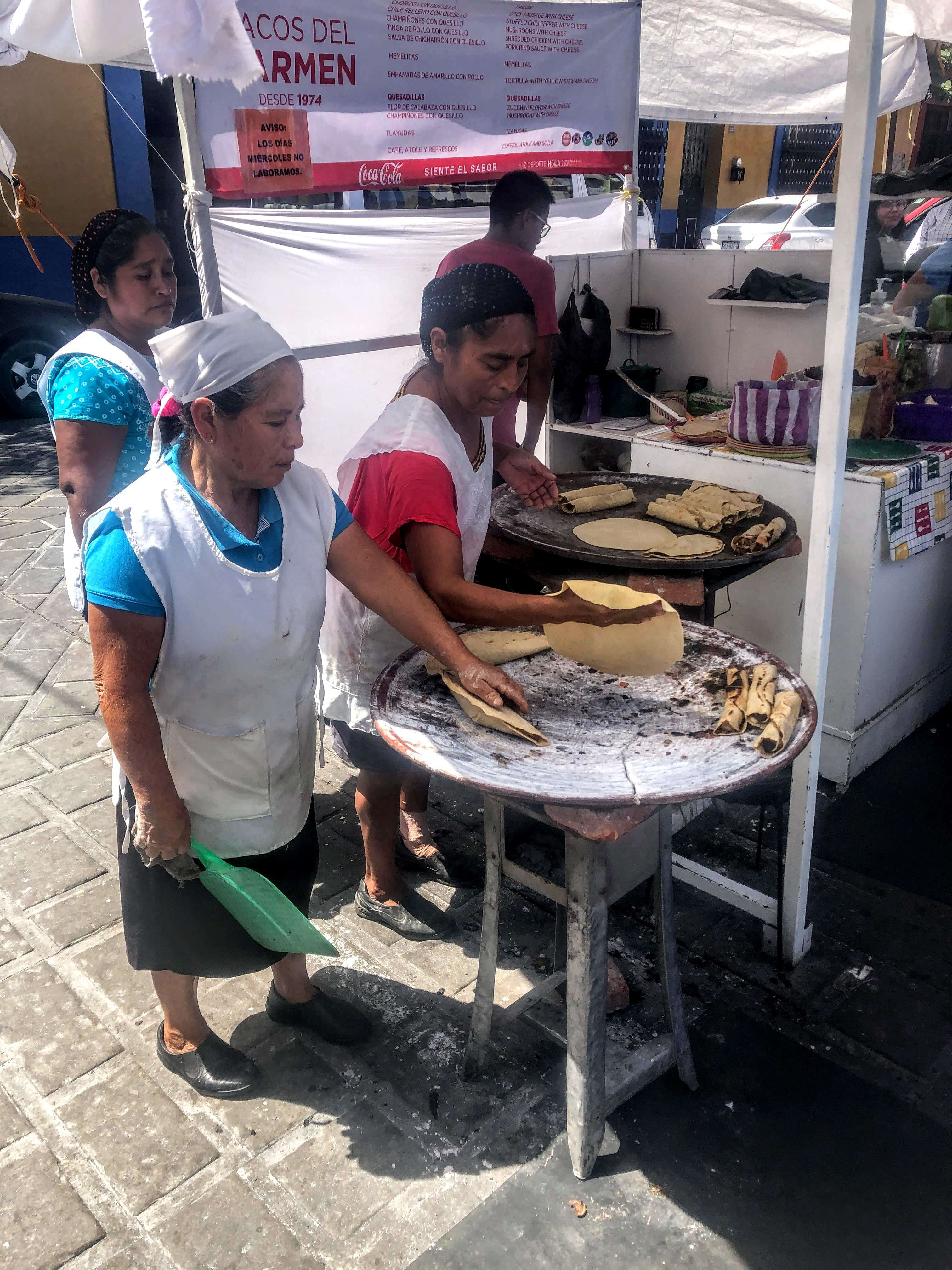 street food in Oaxaca