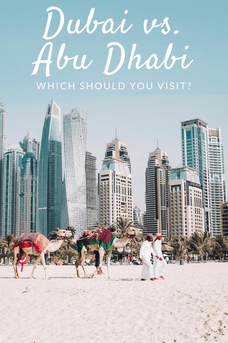 Dubai vs Abu Dhabi Pinterest pin