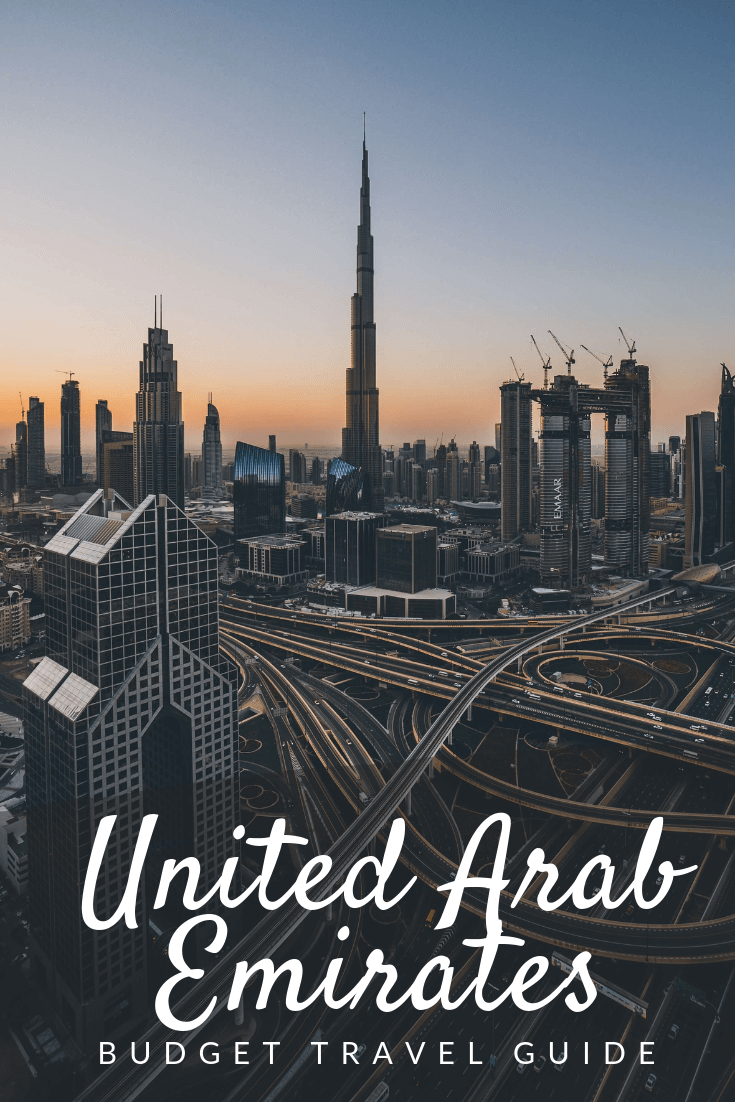 UAE budget travel guide Pinterest pin