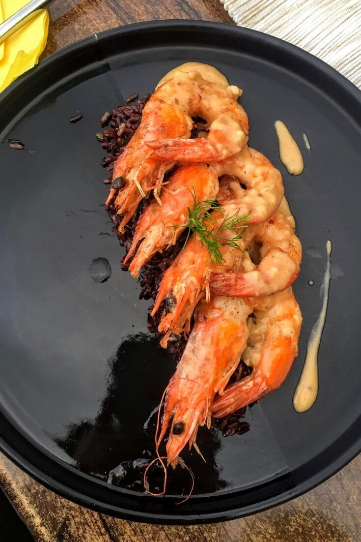 shrimp dinner in Sozopol
