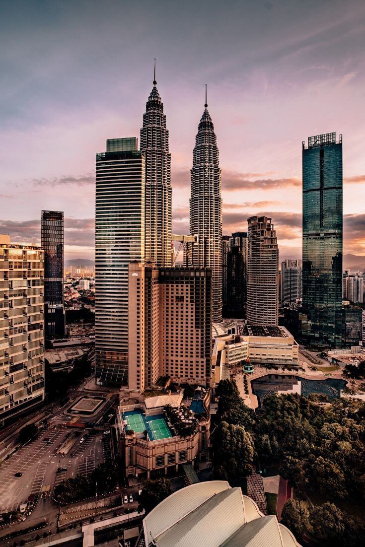 twin towers in Kuala Lampur, Malaysia