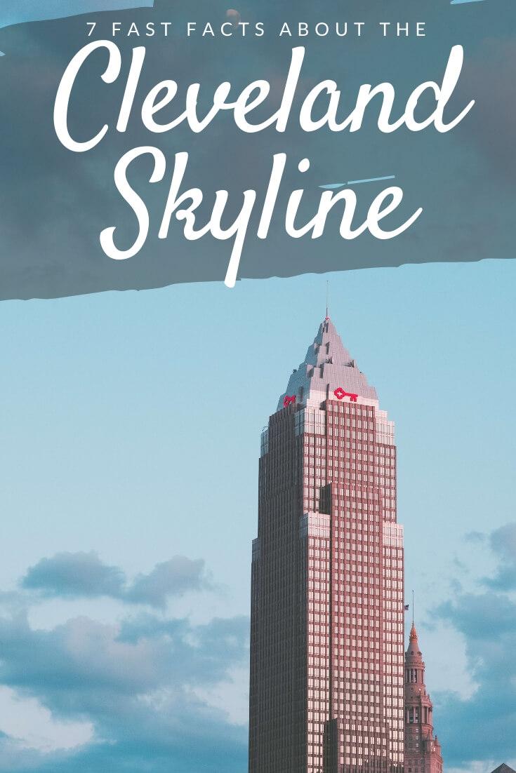 Cleveland skyline Pinterest pin