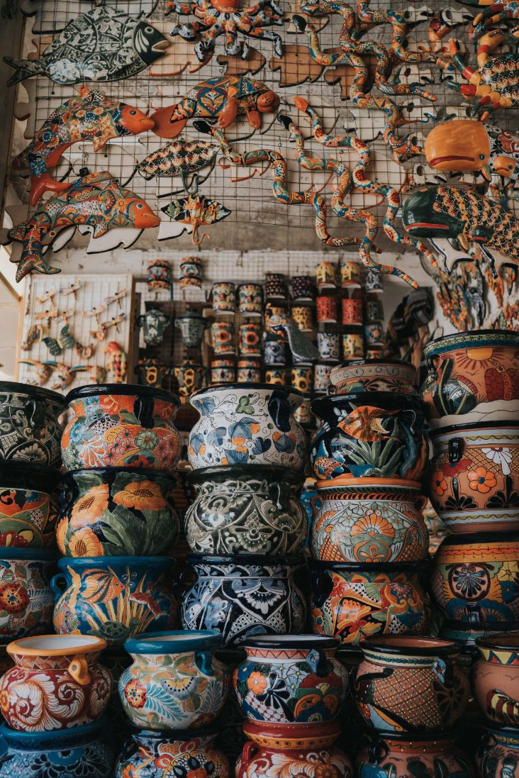 pottery shop in Mexico