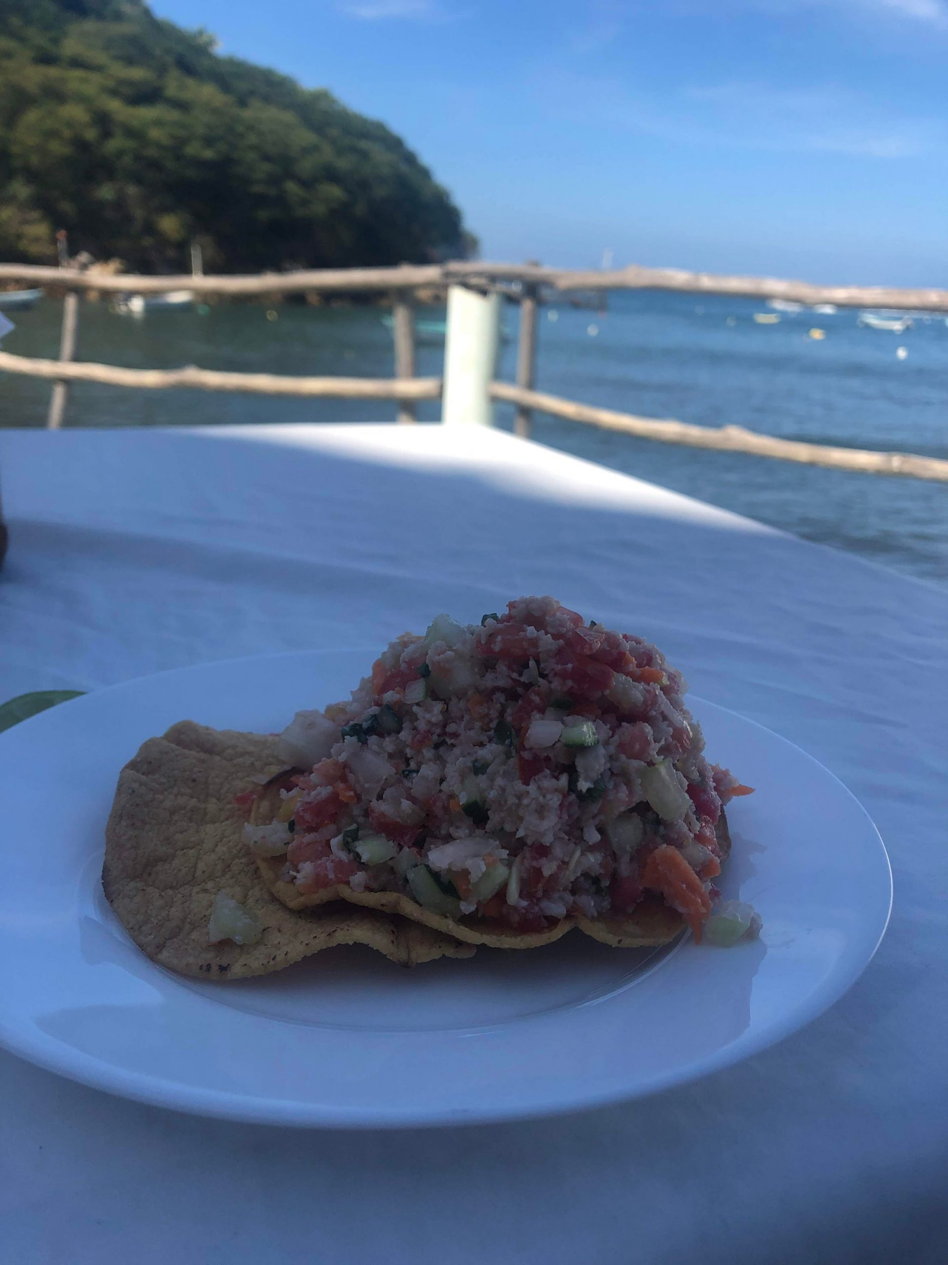 ceviche at a restaurant in Quimixto