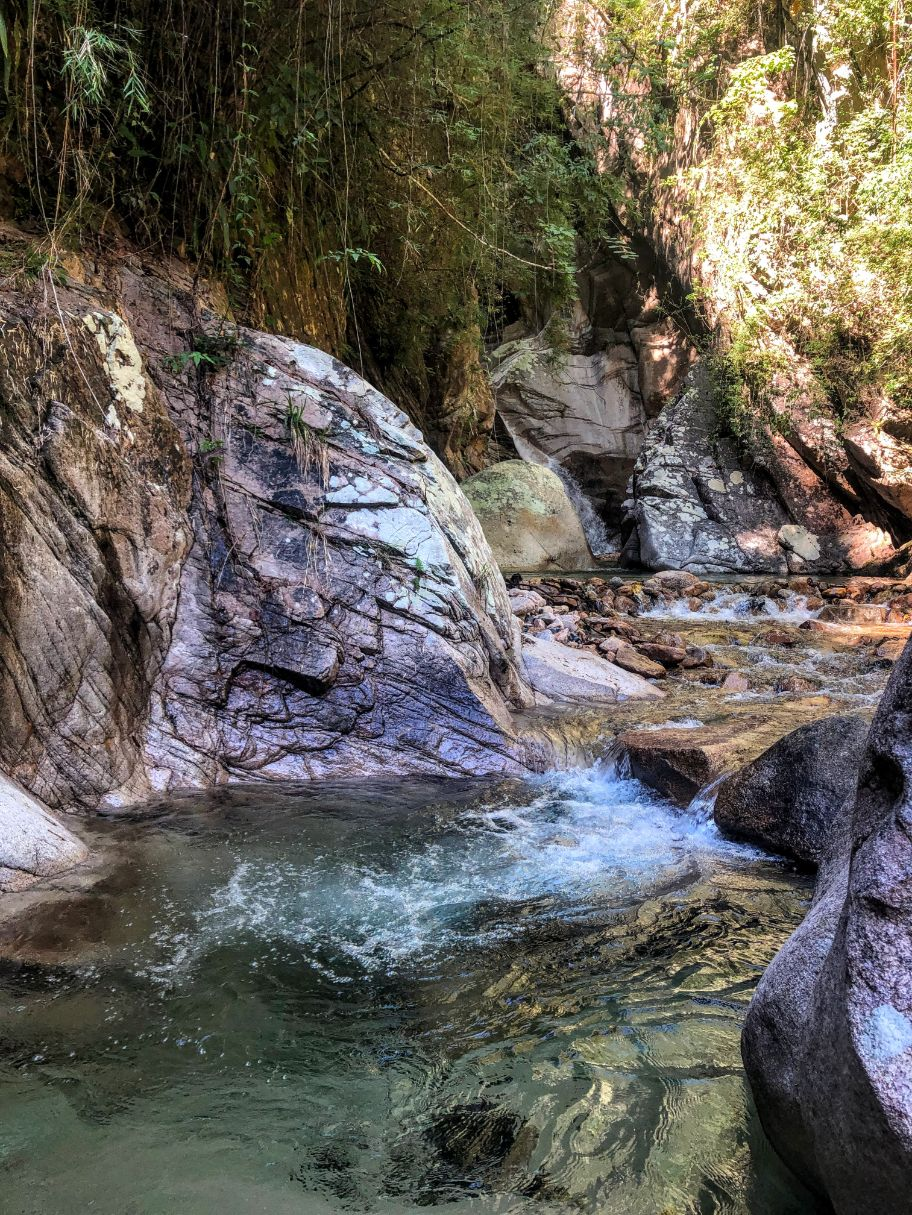 Nogalito waterfall and swimming hole