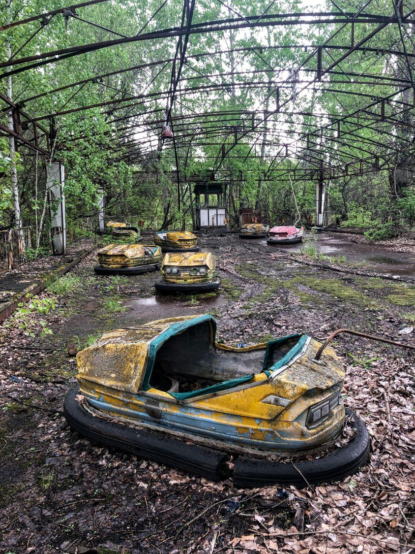 abandoned theme park in Chernobyl, Ukraine