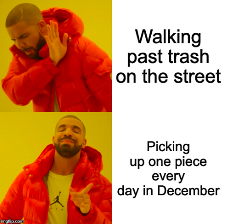 December 2019 Sustainability Challenge meme announcement