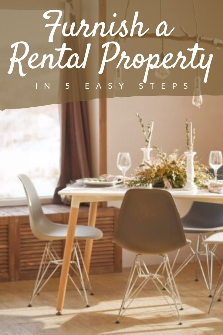 How to Furnish a Rental Property Pinterest pin