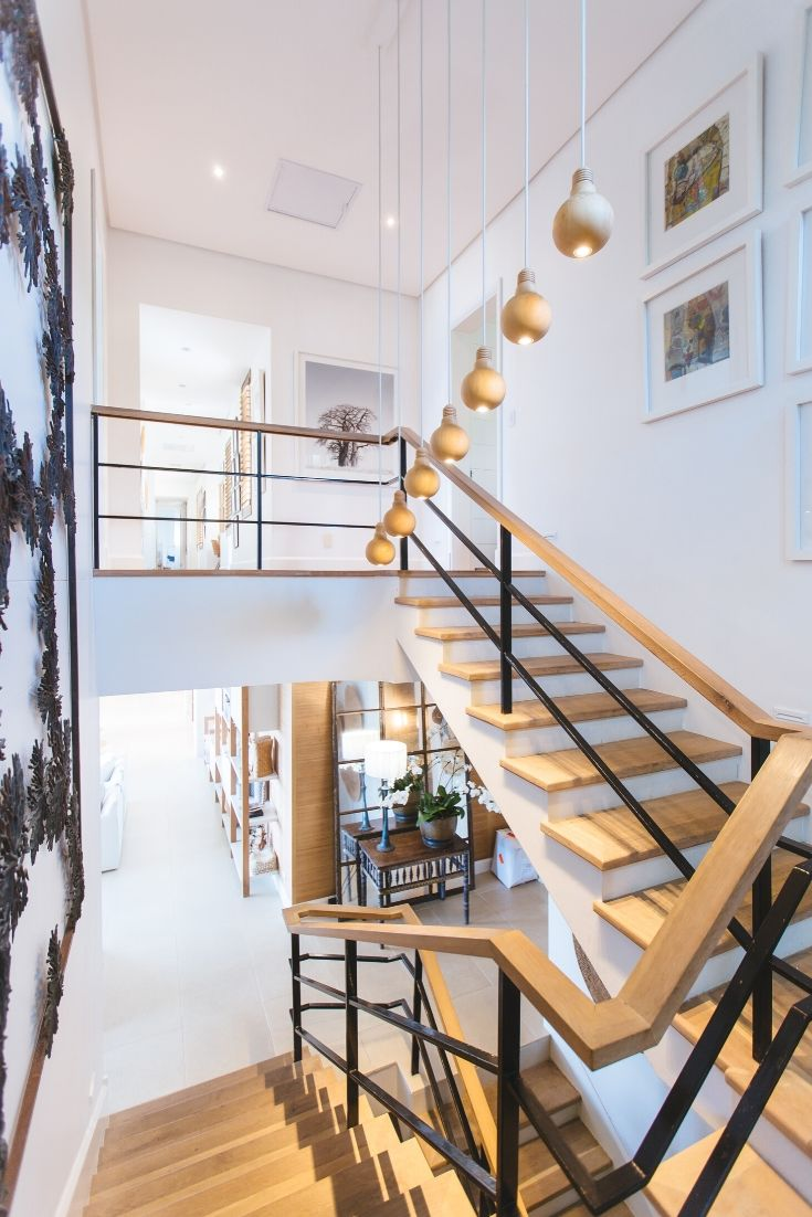 bright staircase in a modern home