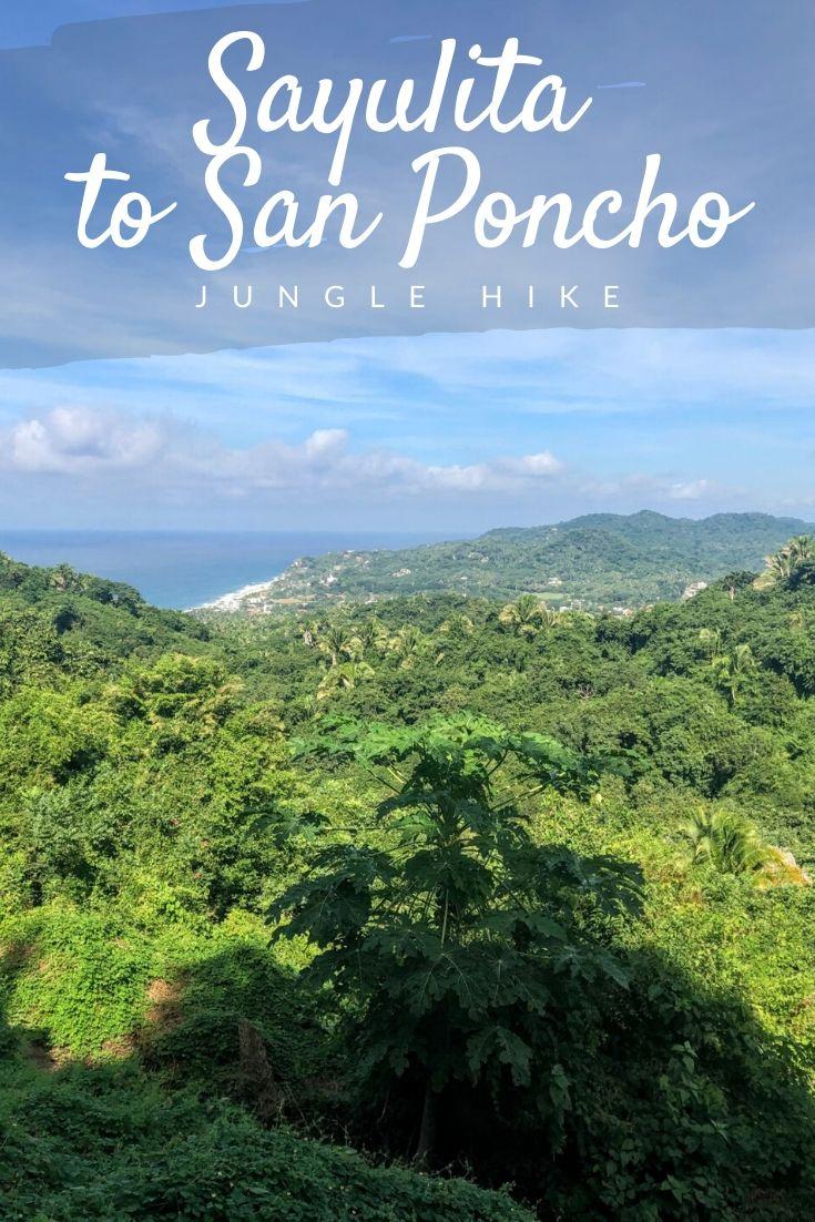 Sayulita to San Pancho hike Pinterest pin
