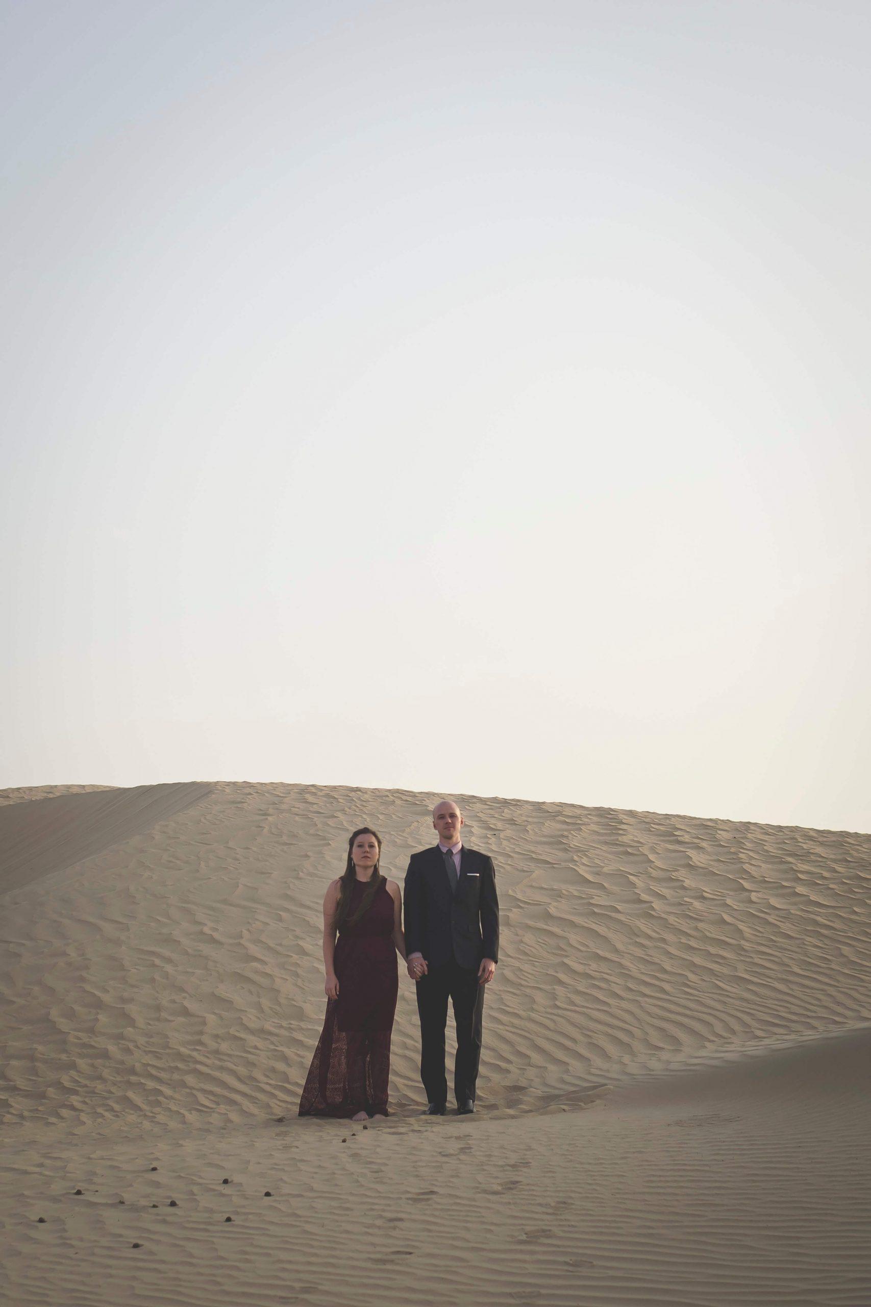 Dan and Di in the Abu Dhabi desert
