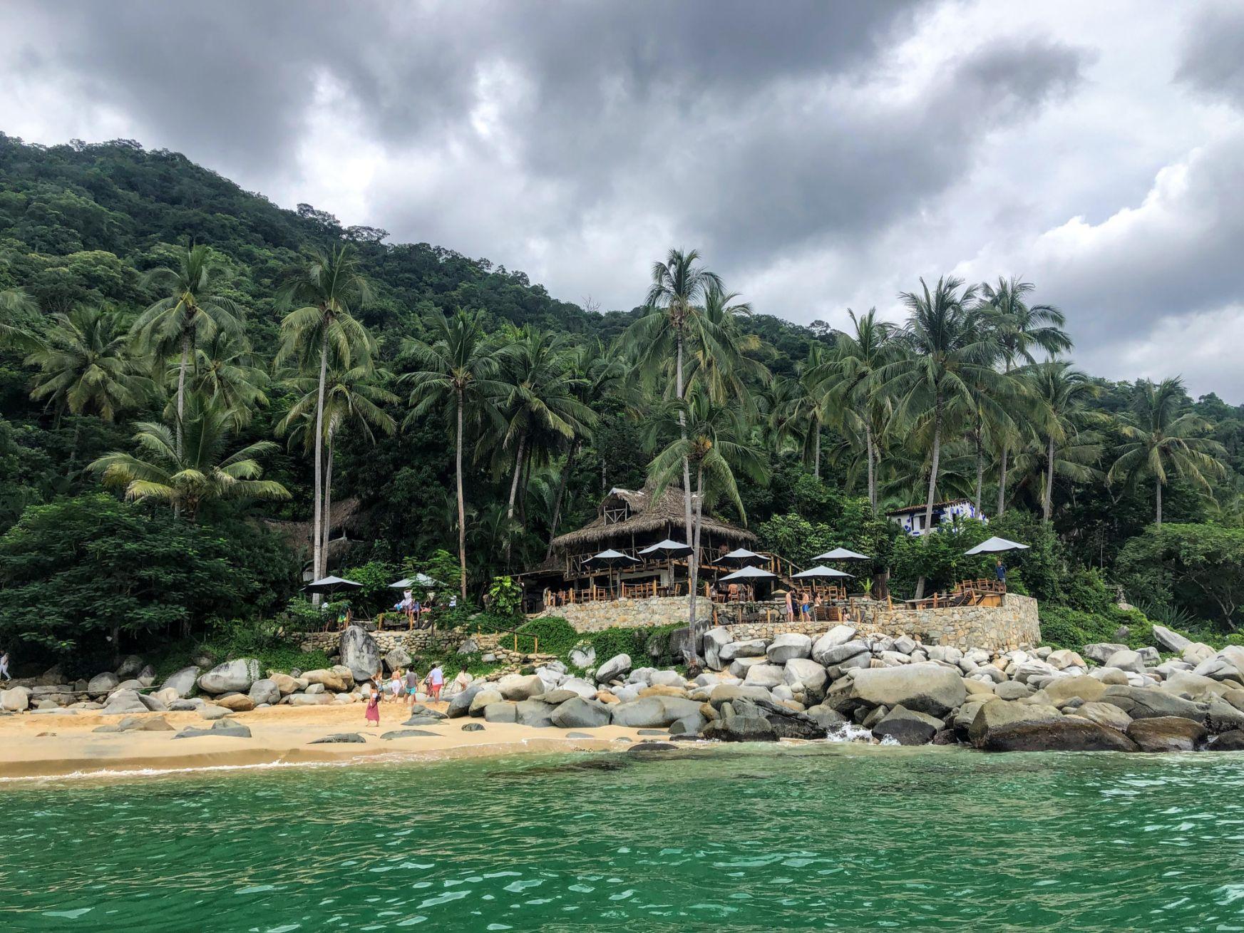 Casitas Maraika resort from the water