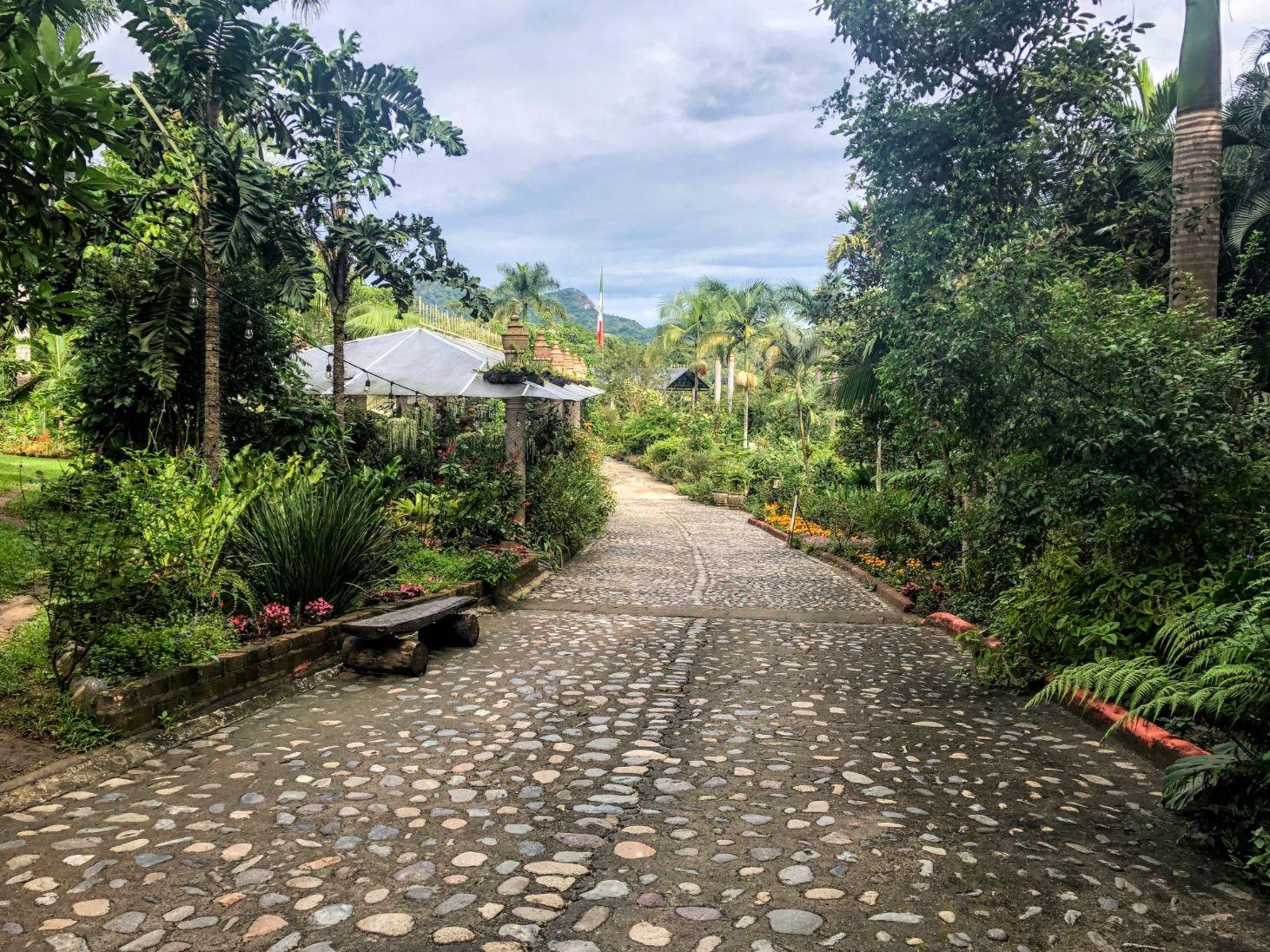 entrance into the Puerto Vallarta Botanical Garden