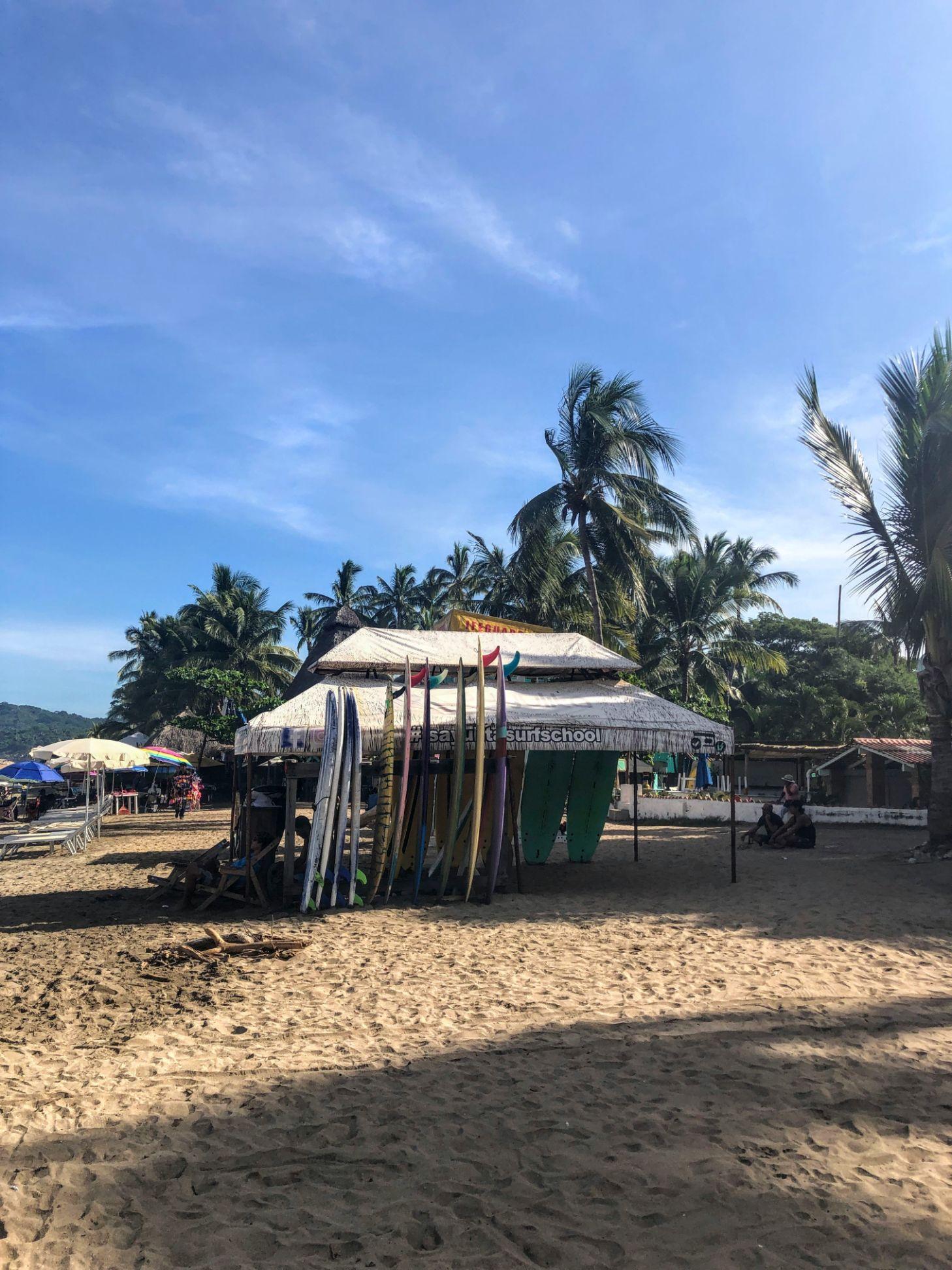 surfboard rental on Sayulita beach