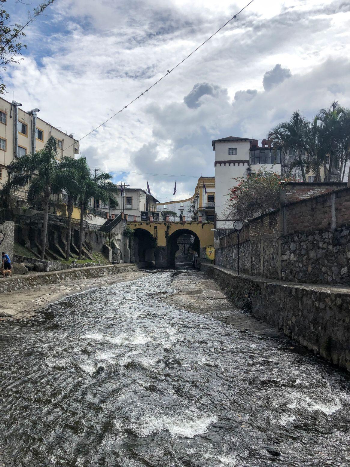 Orizaba river walk in downtown Orizaba