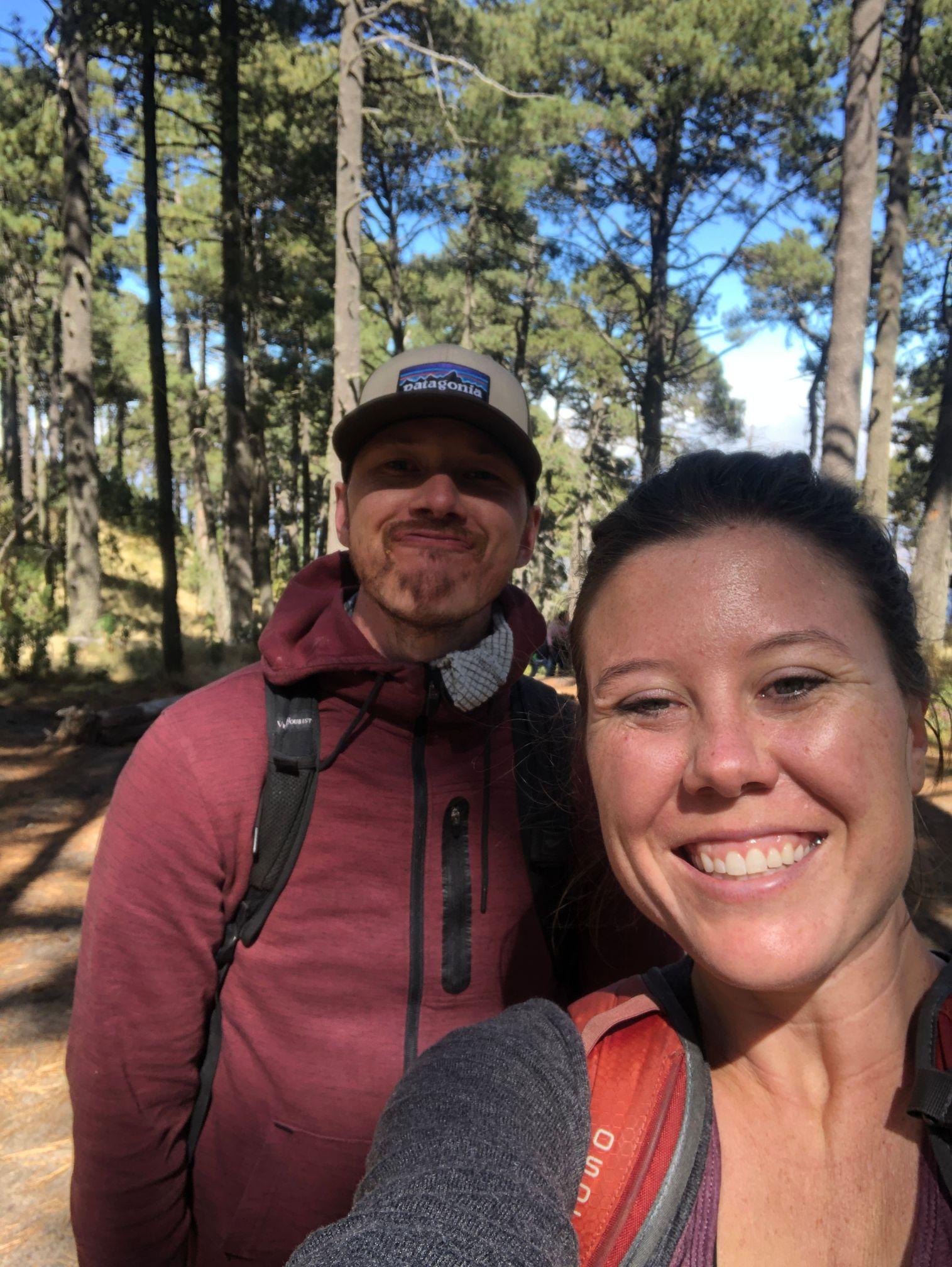 Dan and DI selfie in Malinche National Park