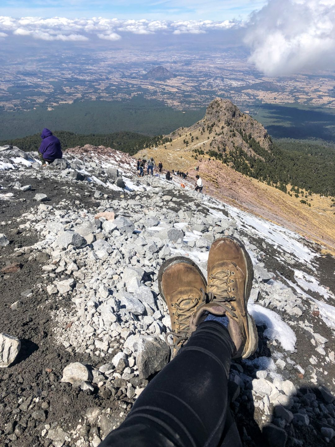boots on a mountain ridge