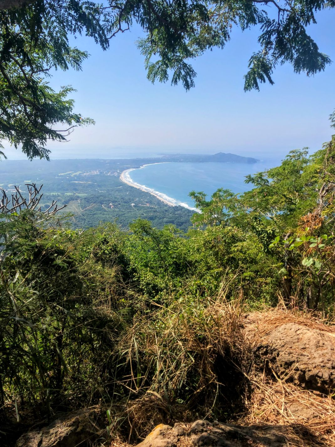 View of the Puerto Vallarta coastline from the top of Monkey Mountain