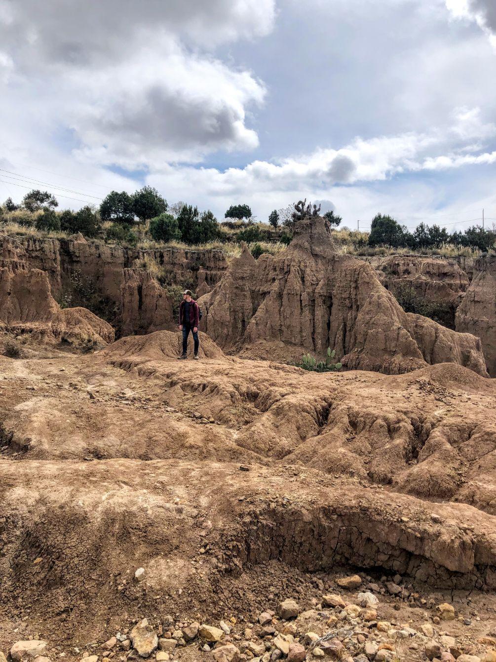 hiking at the Tlaxco slot canyons