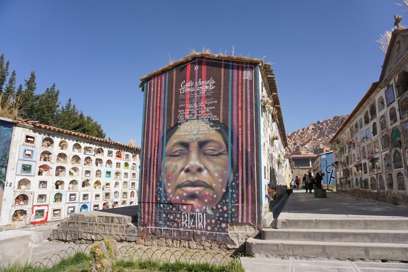 Colorful La Paz cemetary