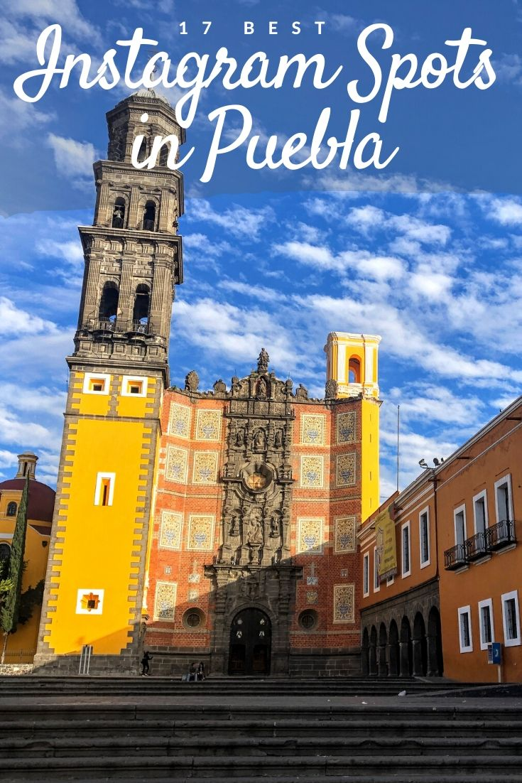 Instagram spots in Puebla Pinterest pin