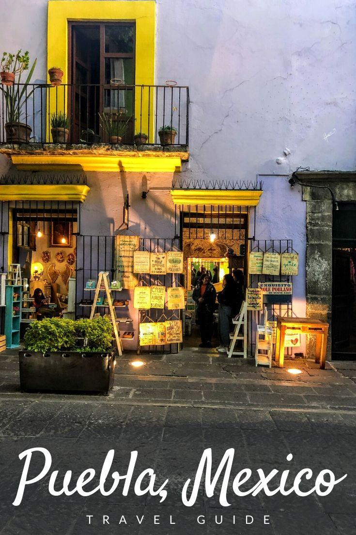 Puebla Travel Guide Pinterest pin