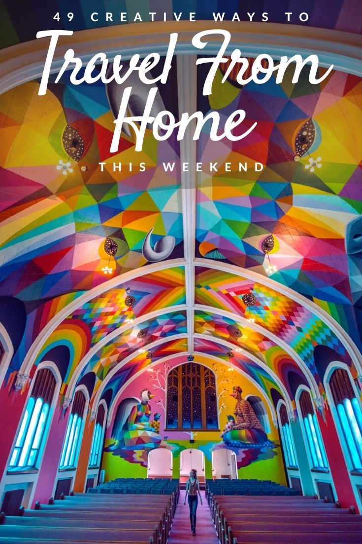 travel from home Pinterest pin