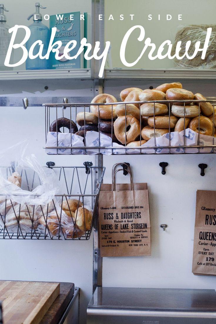 Lower East Side bakery crawl Pinterest pin