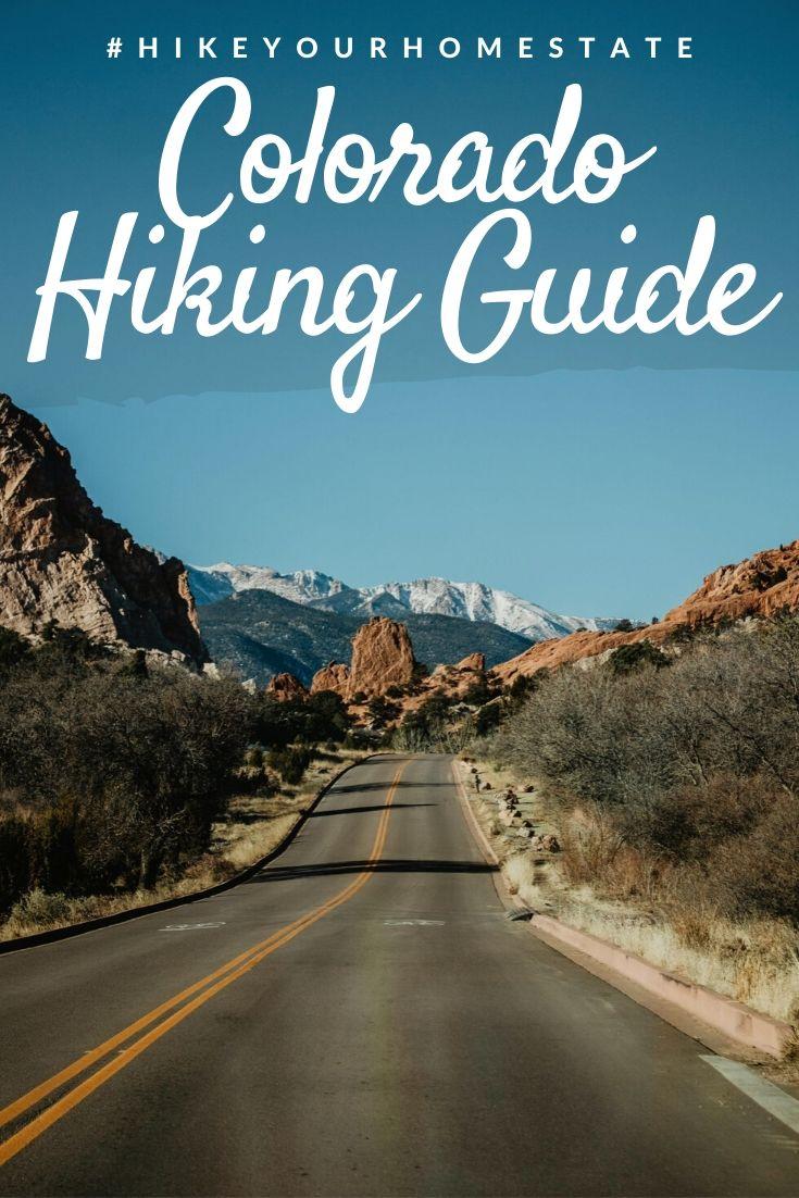 Hiking in Colorado Pinterest pin