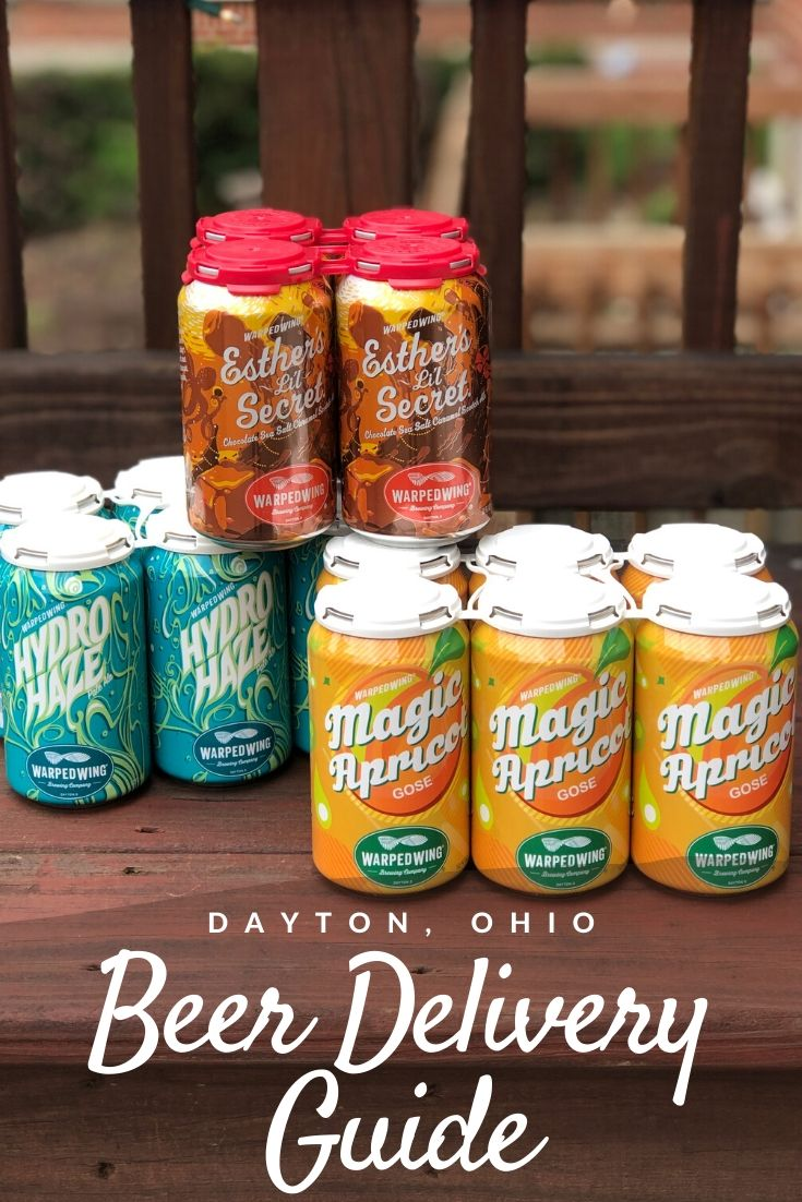 Dayton beer delivery guide Pinterest pin